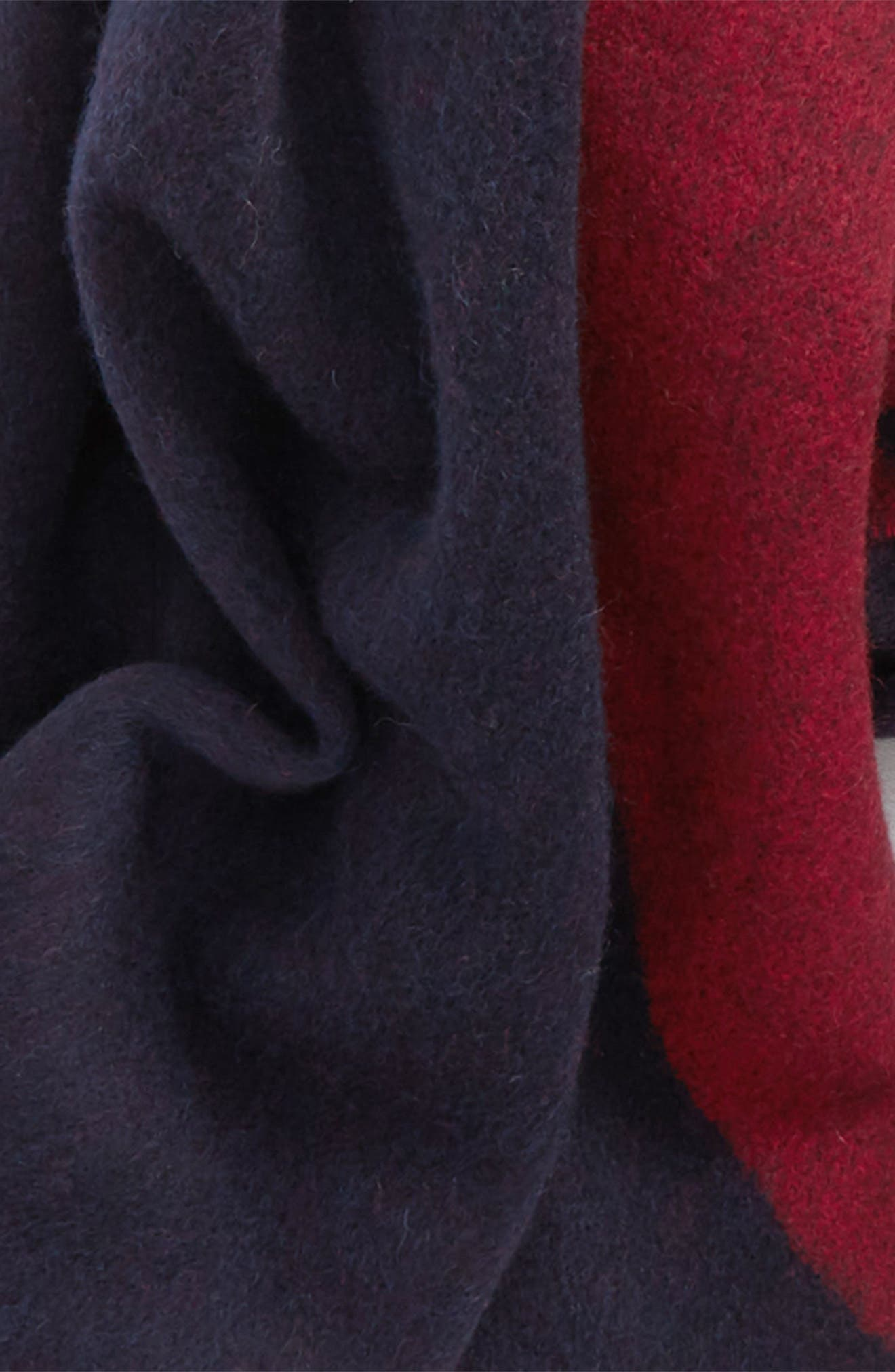 Graphic Wool Scarf,                             Alternate thumbnail 4, color,                             DARK BLUE MULTI