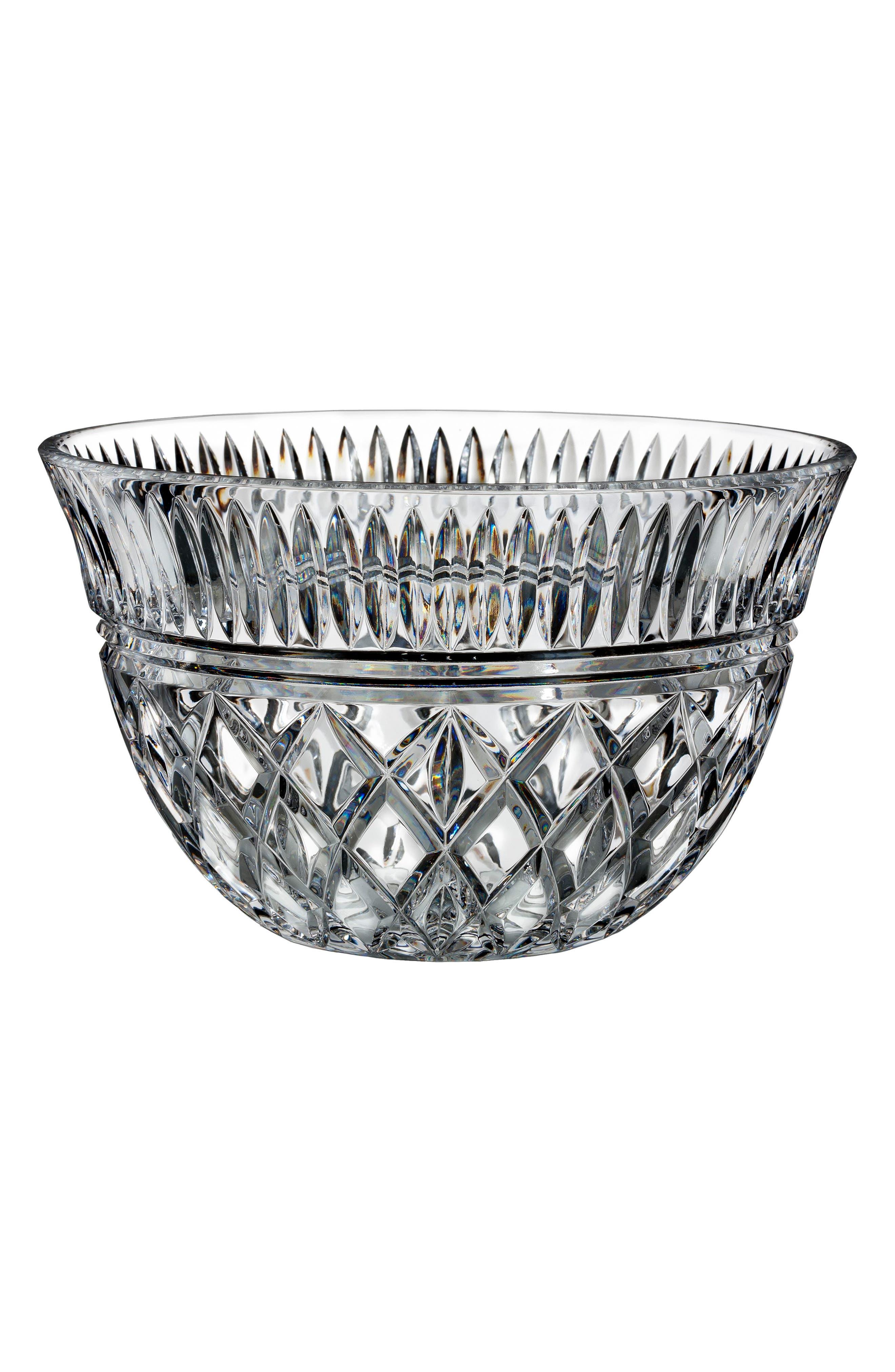 Eastbridge Lead Crystal Bowl,                             Main thumbnail 1, color,                             CLEAR
