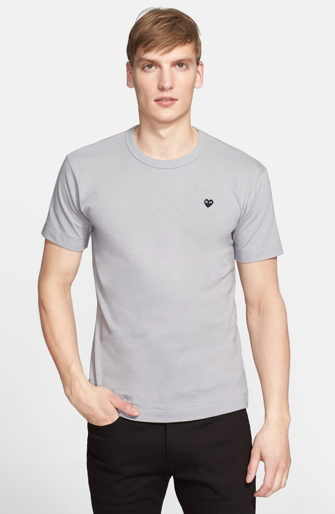 Cotton Jersey T-Shirt,                             Main thumbnail 1, color,                             020