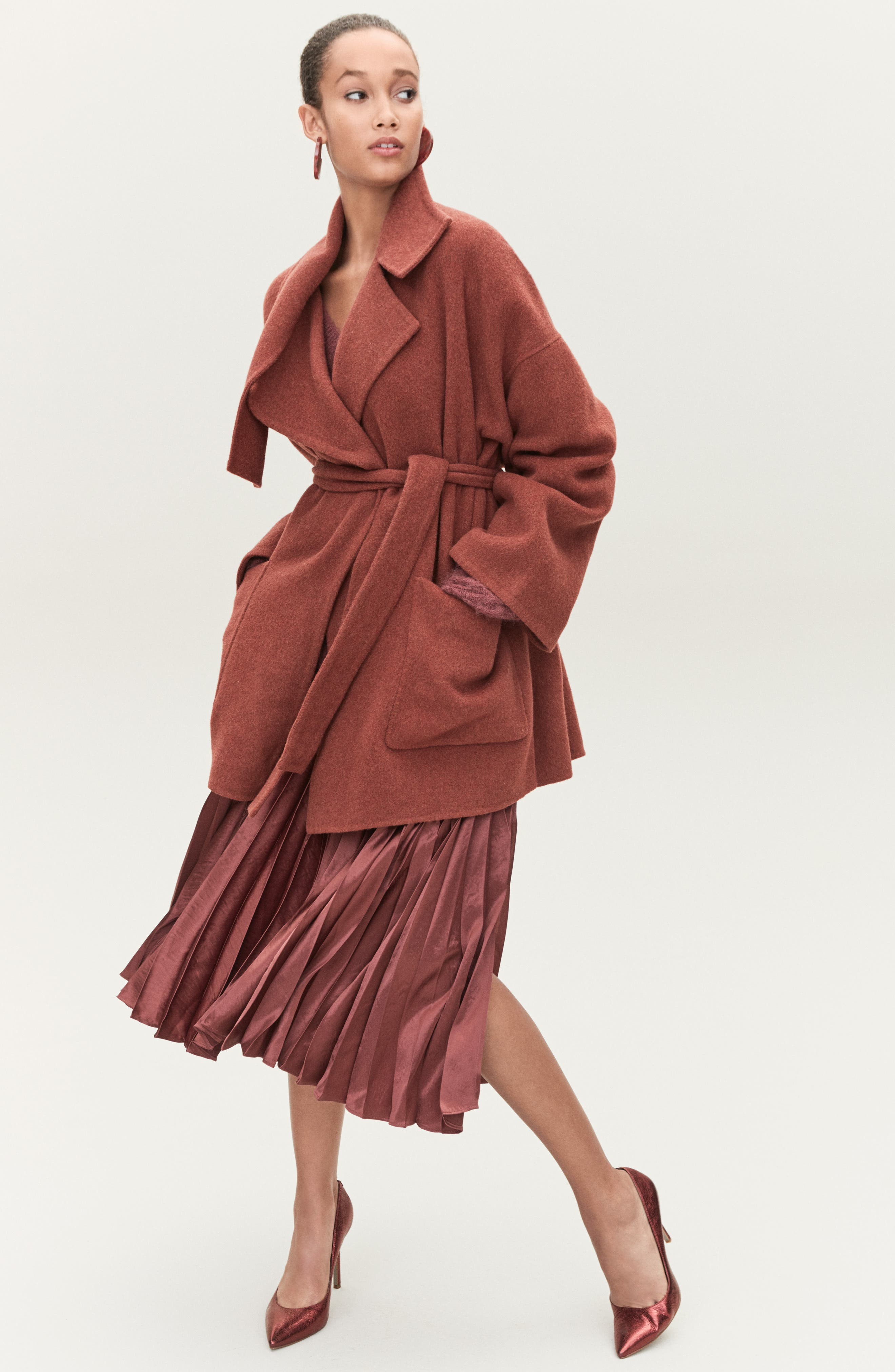 Blanket Coat,                             Alternate thumbnail 9, color,                             H GREY