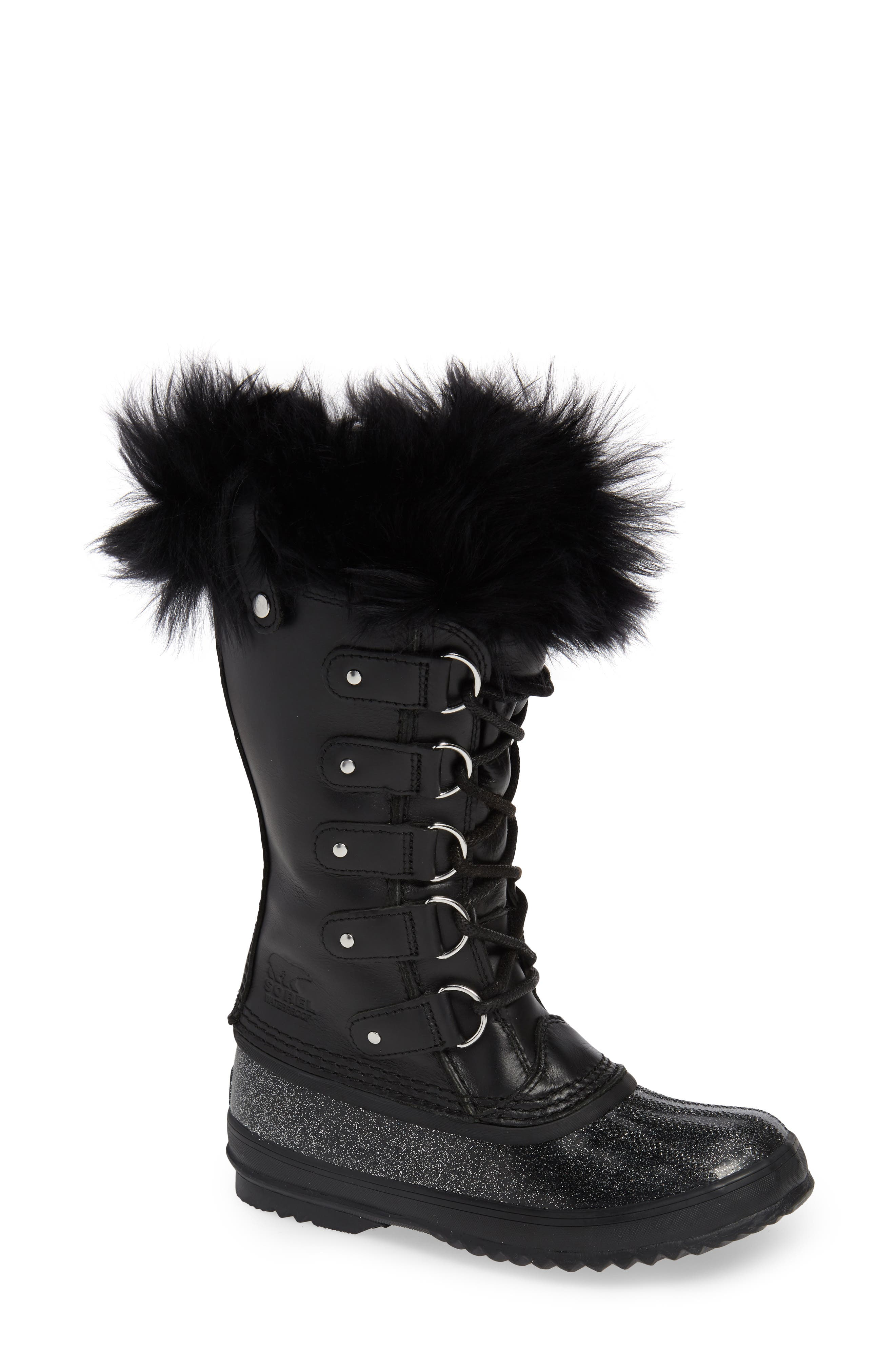 Joan of Arctic<sup>™</sup> Lux Waterproof Winter Boot with Genuine Shearling,                             Main thumbnail 1, color,                             010