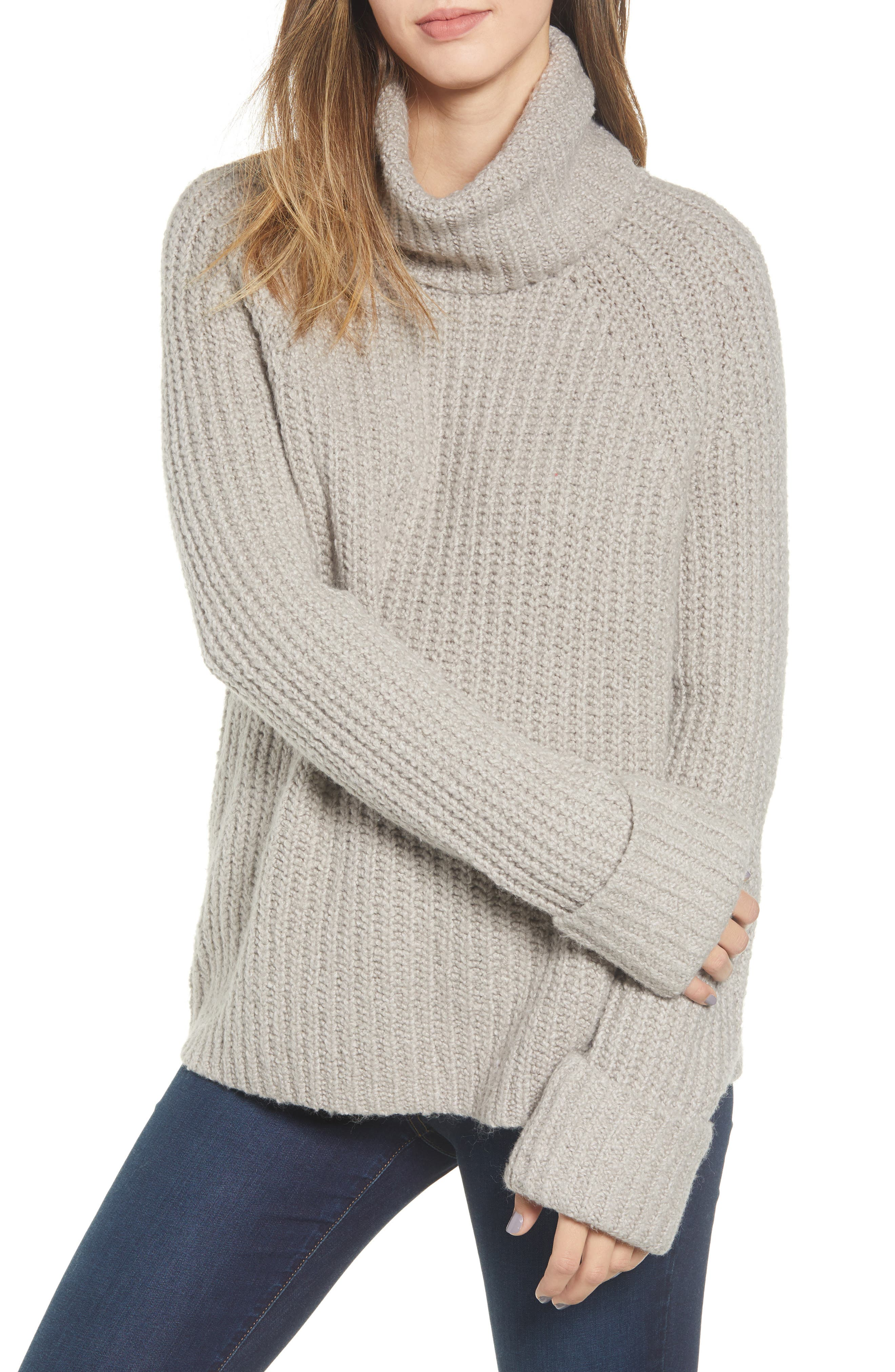 Cozy Turtleneck Sweater,                             Main thumbnail 1, color,                             050