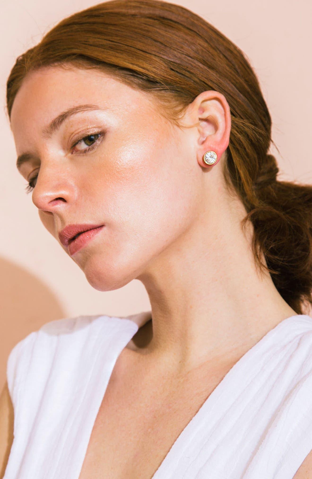Bezel Set Stud Earrings,                             Alternate thumbnail 22, color,