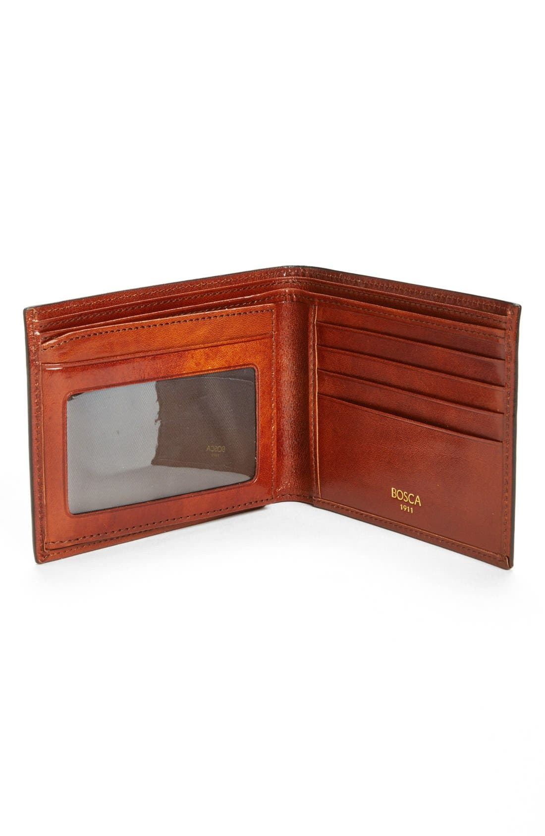ID Flap Leather Wallet,                             Alternate thumbnail 5, color,