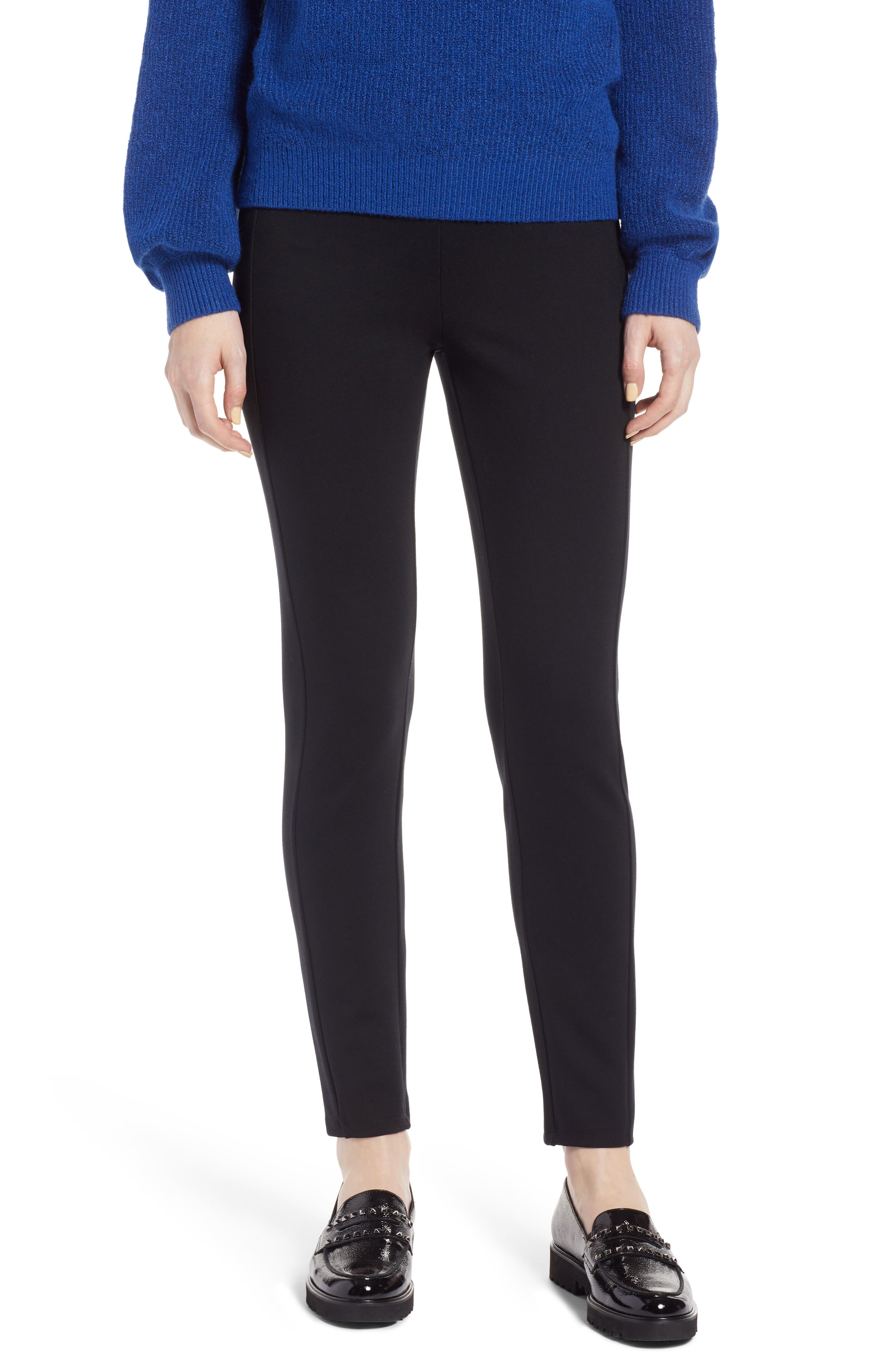 Skinny Ponte Knit Pants,                         Main,                         color, 001