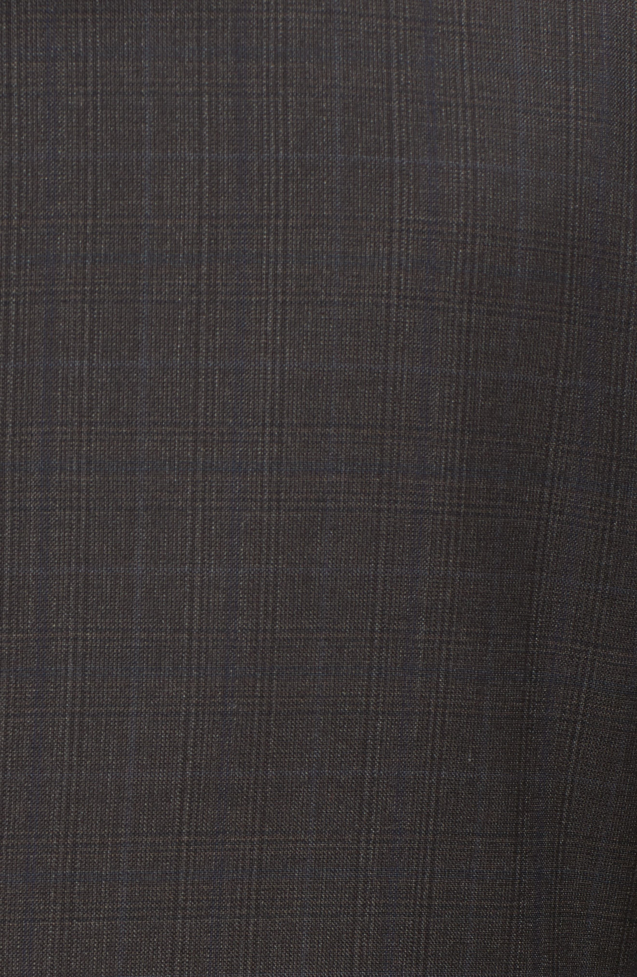 Classic B Fit Check Wool & Cashmere Suit,                             Alternate thumbnail 7, color,                             200