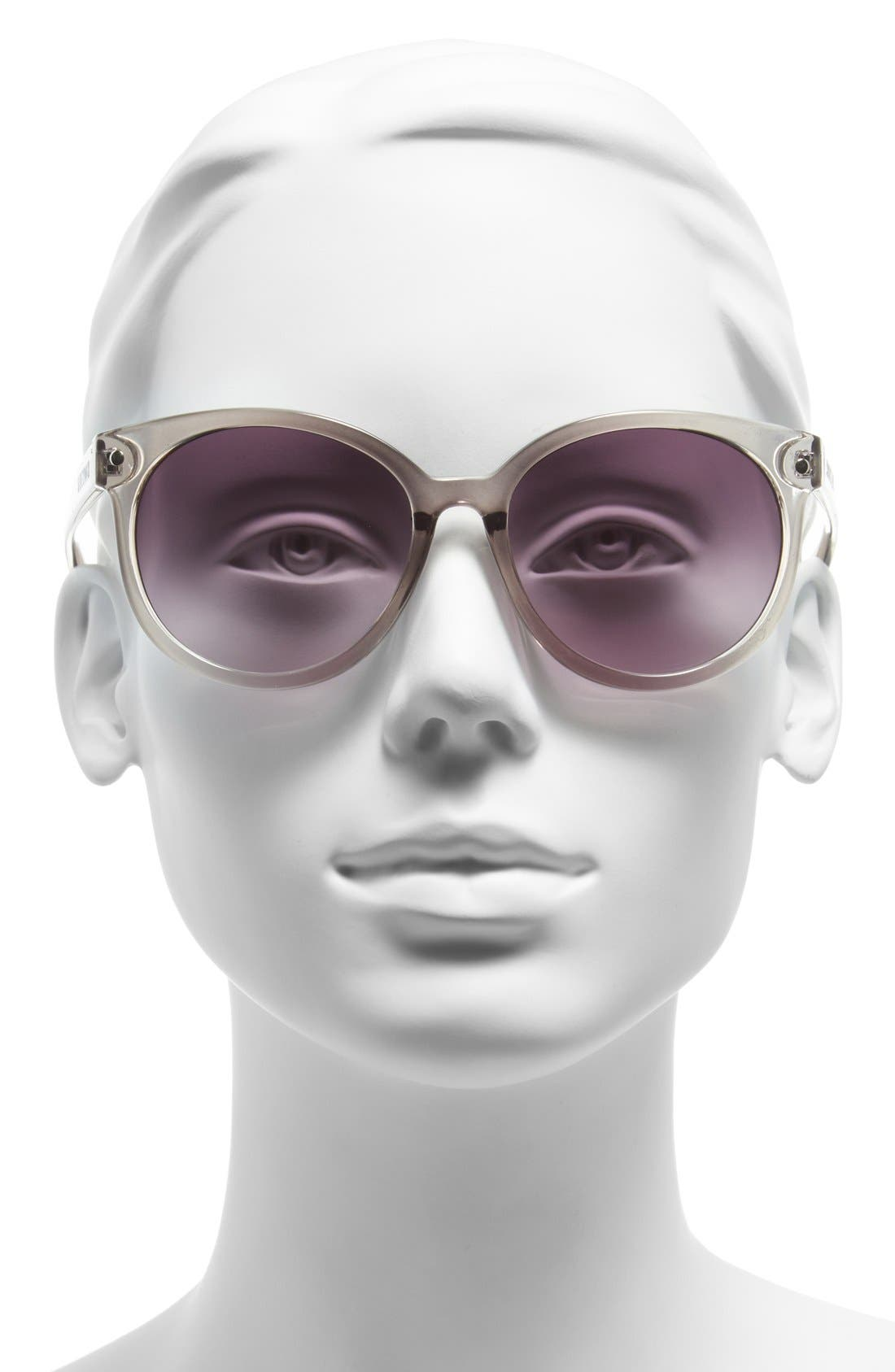 'Crystal' 54mm Oval Sunglasses,                             Alternate thumbnail 2, color,                             020
