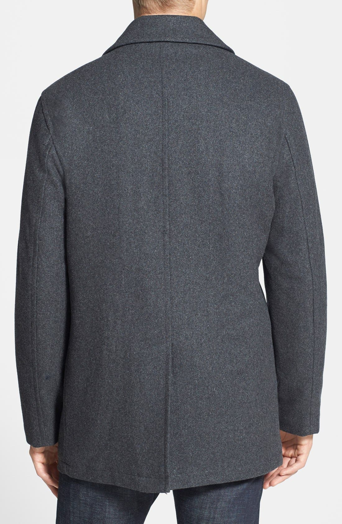 Wool Blend Double Breasted Peacoat,                             Alternate thumbnail 25, color,