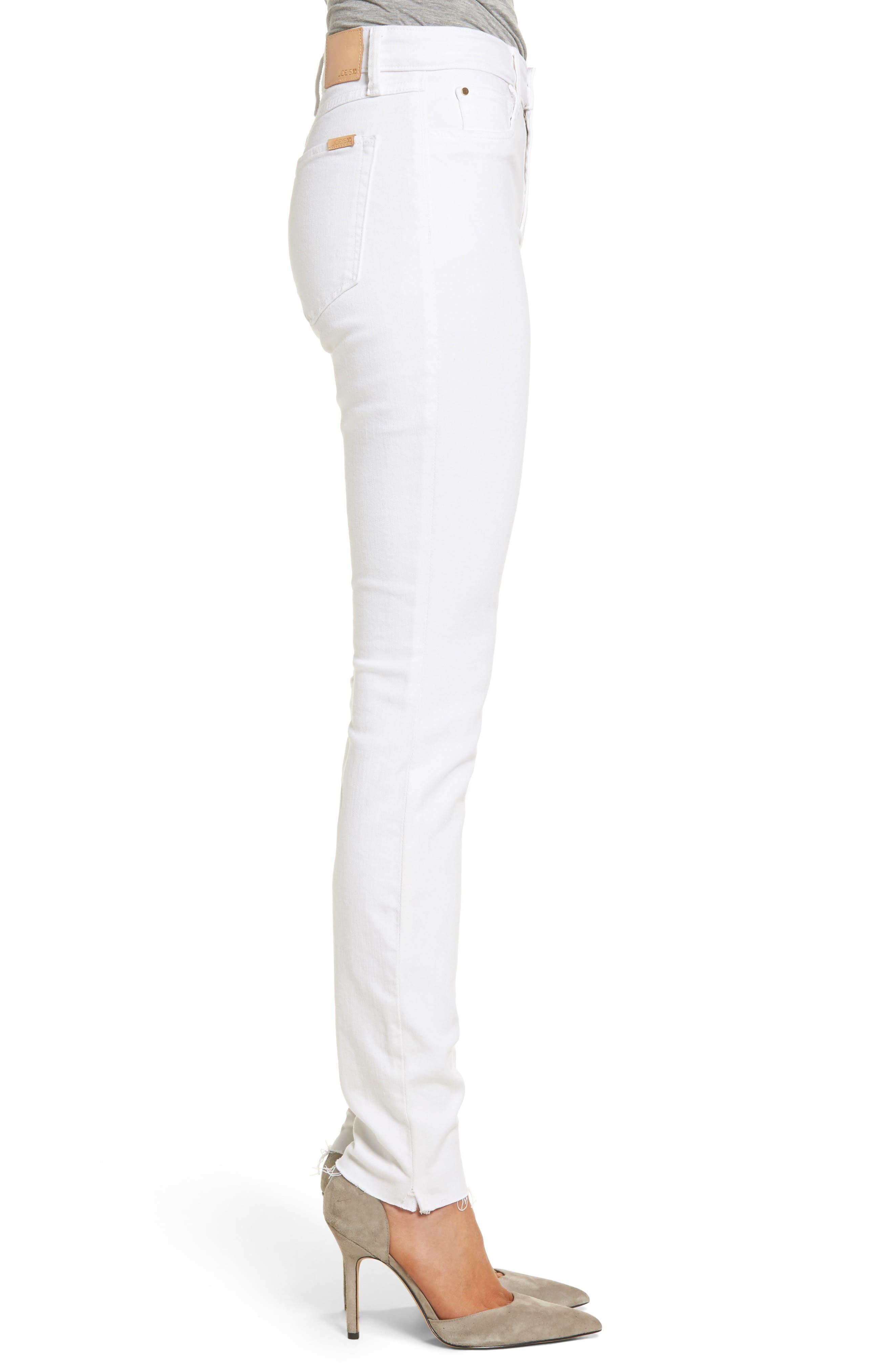 Charlie Raw Hem High Rise Skinny Jeans,                             Alternate thumbnail 3, color,                             120