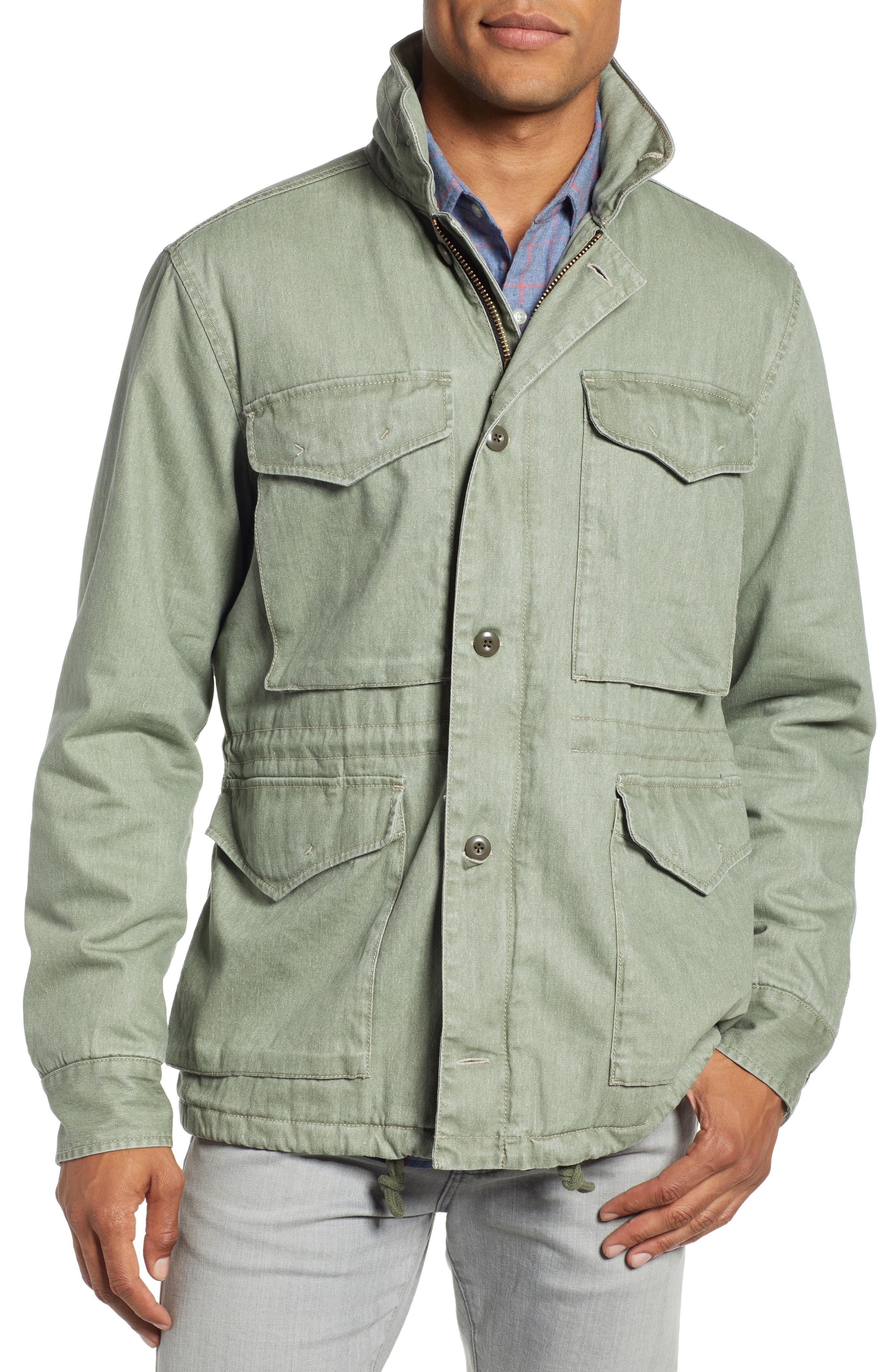 Vintage M-65 Jacket,                             Alternate thumbnail 4, color,                             OLIVE