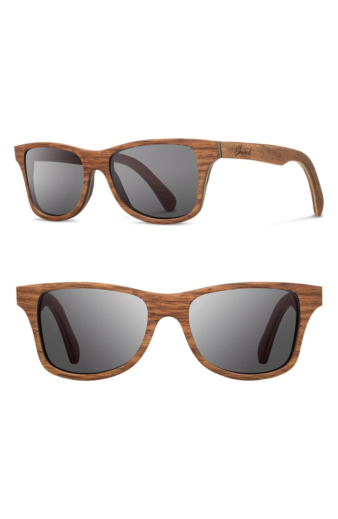 'Canby' 54mm Wood Sunglasses,                         Main,                         color, 201