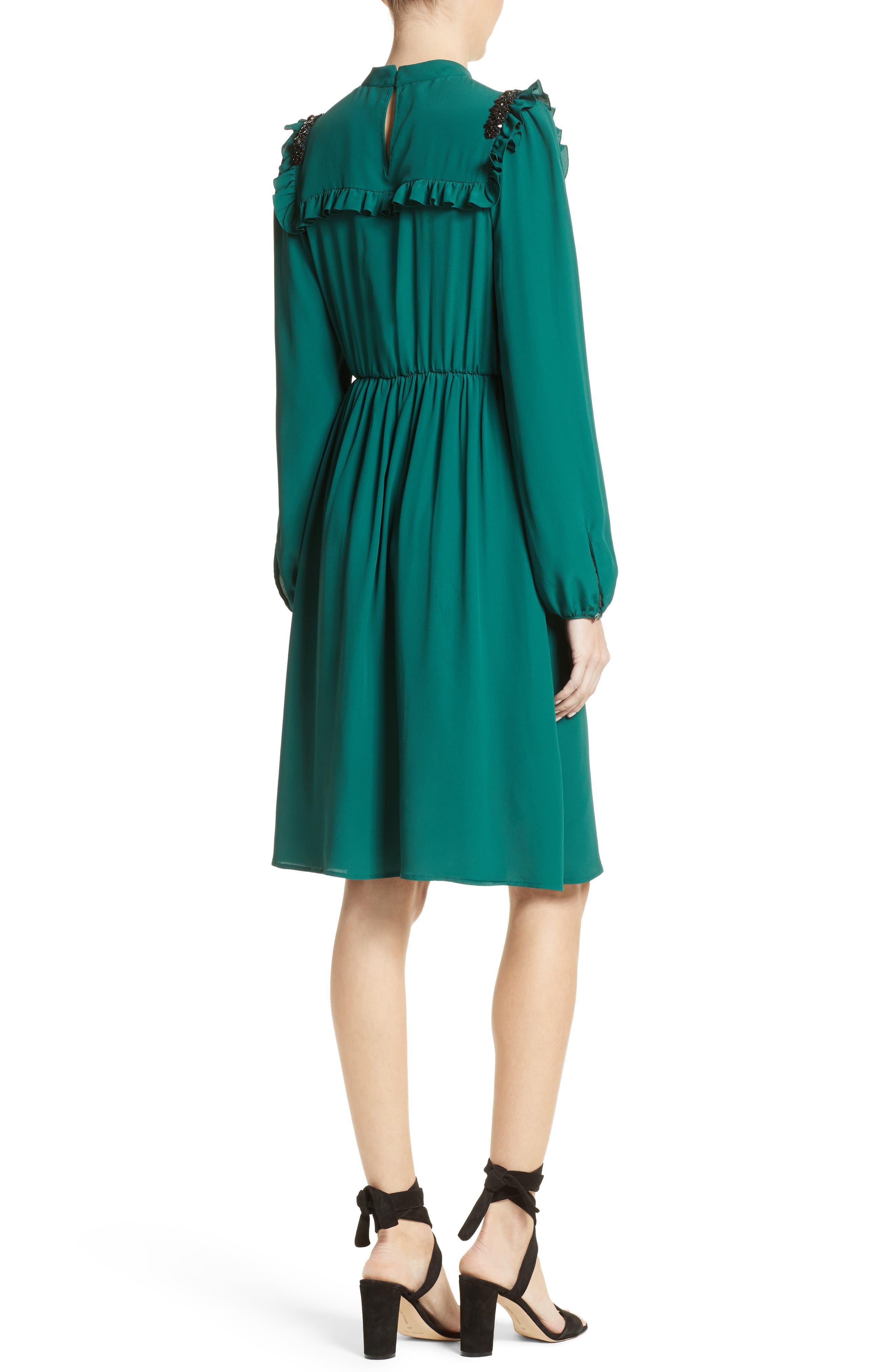 Crystal Embellished Ruffle Dress,                             Alternate thumbnail 2, color,                             300
