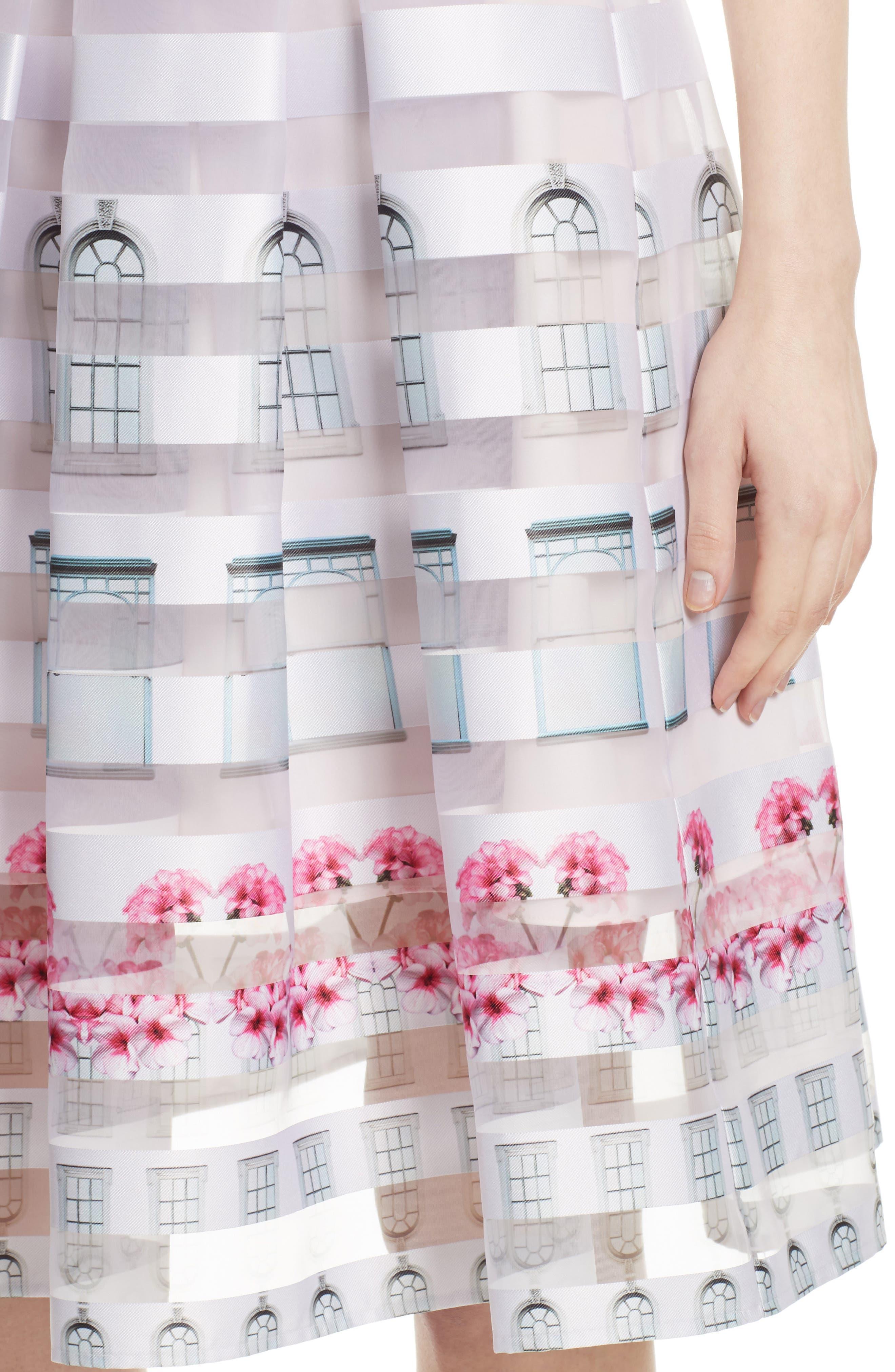 TED BAKER LONDON,                             Niica Midi Skirt,                             Alternate thumbnail 4, color,                             682