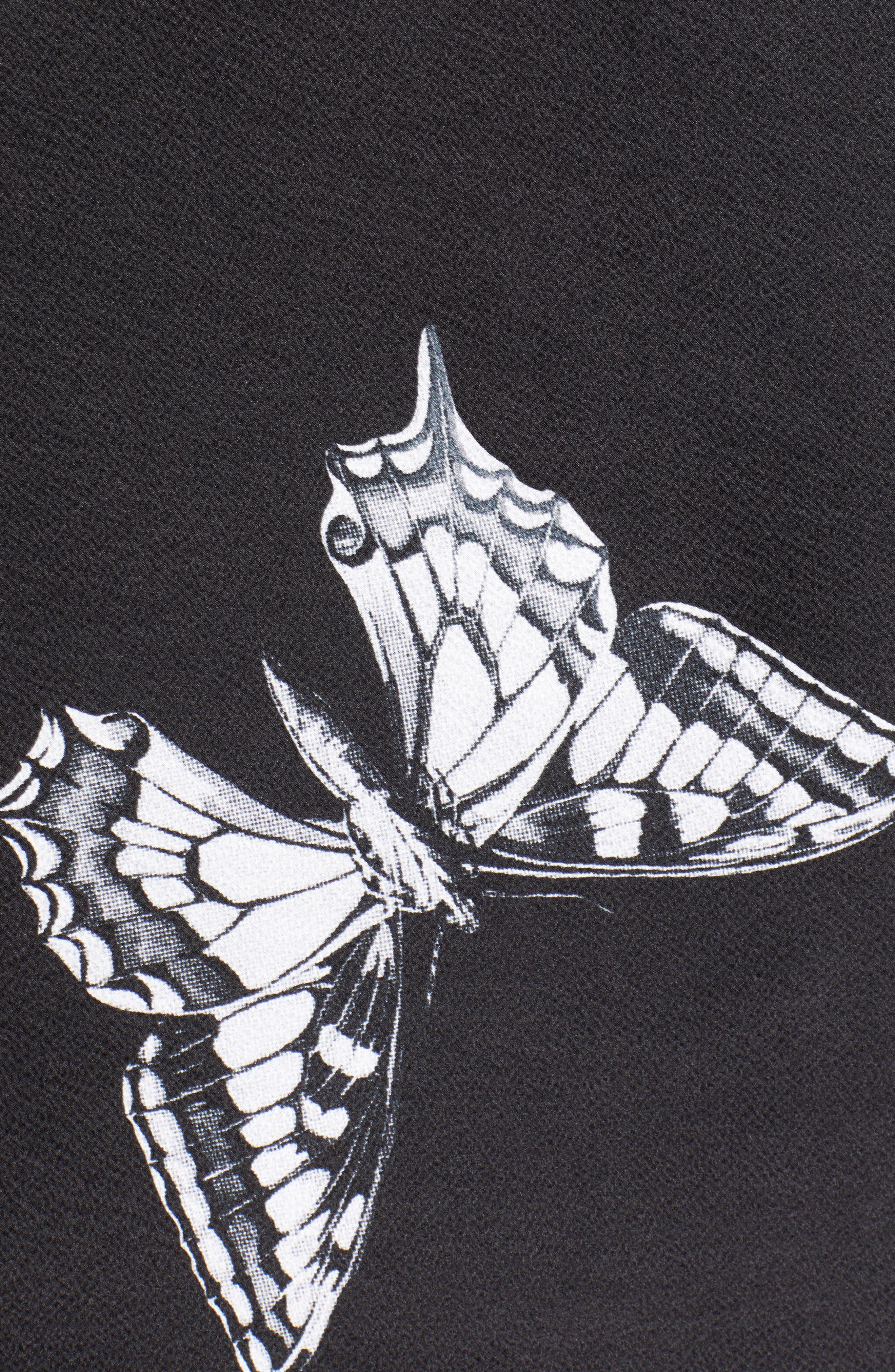Narrnia Silk Cape Scarf,                             Alternate thumbnail 5, color,                             BLACK