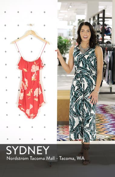 Pocket Flower Strapless Romper, sales video thumbnail