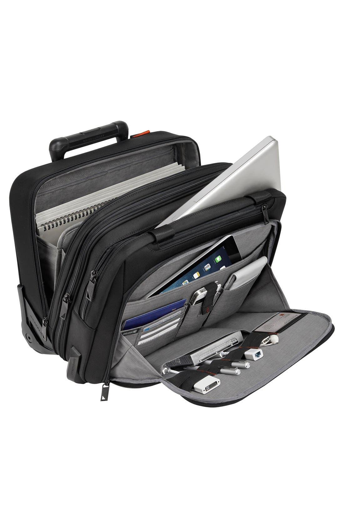 Verb - Propel Rolling Briefcase,                             Alternate thumbnail 4, color,                             BLACK