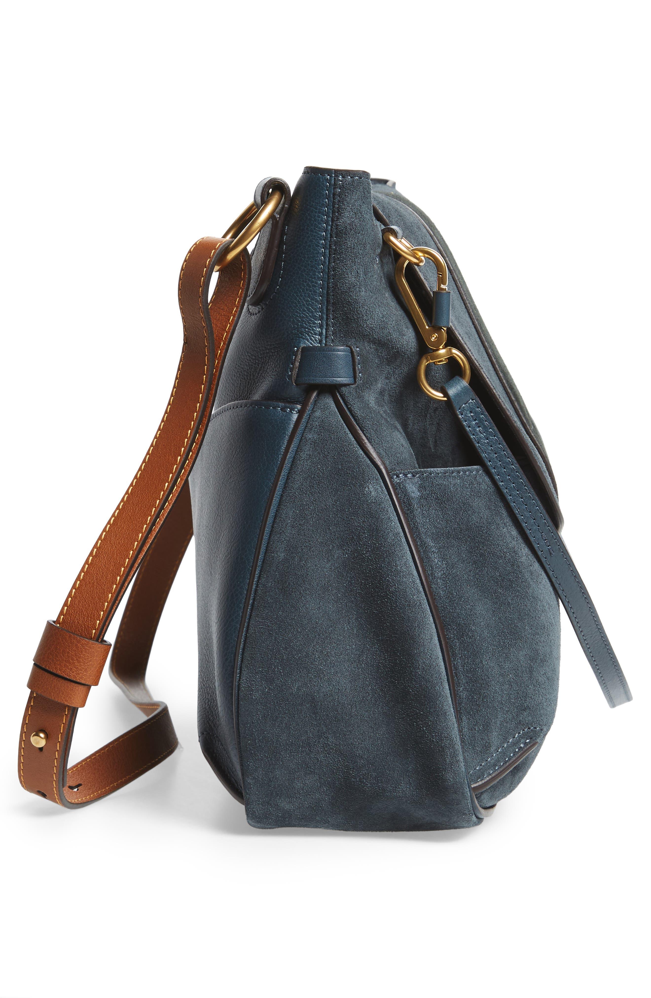 Medium Lexa Leather Shoulder Bag,                             Alternate thumbnail 9, color,