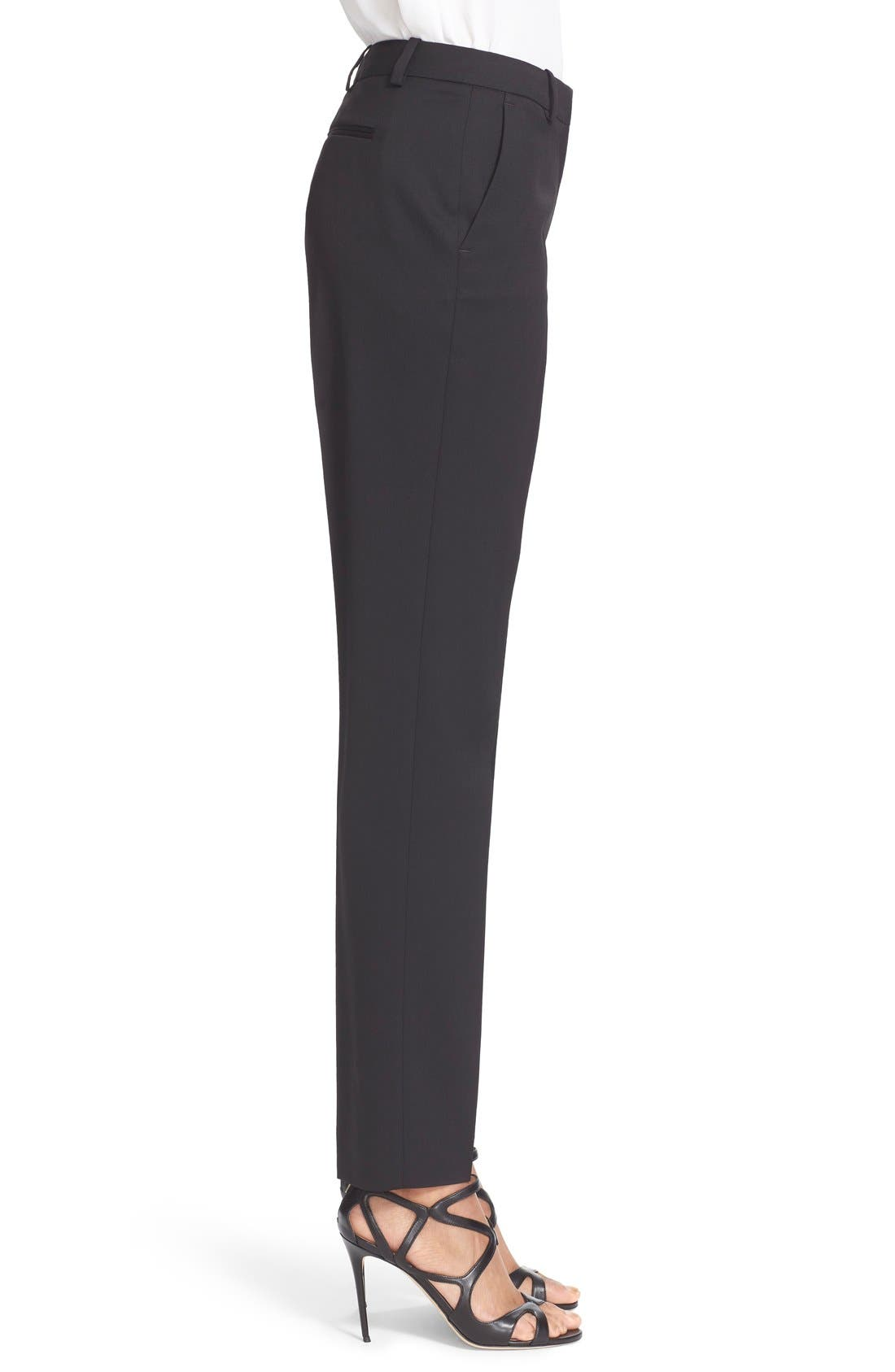 'Timeless' Stretch Wool Trousers,                             Alternate thumbnail 5, color,                             001