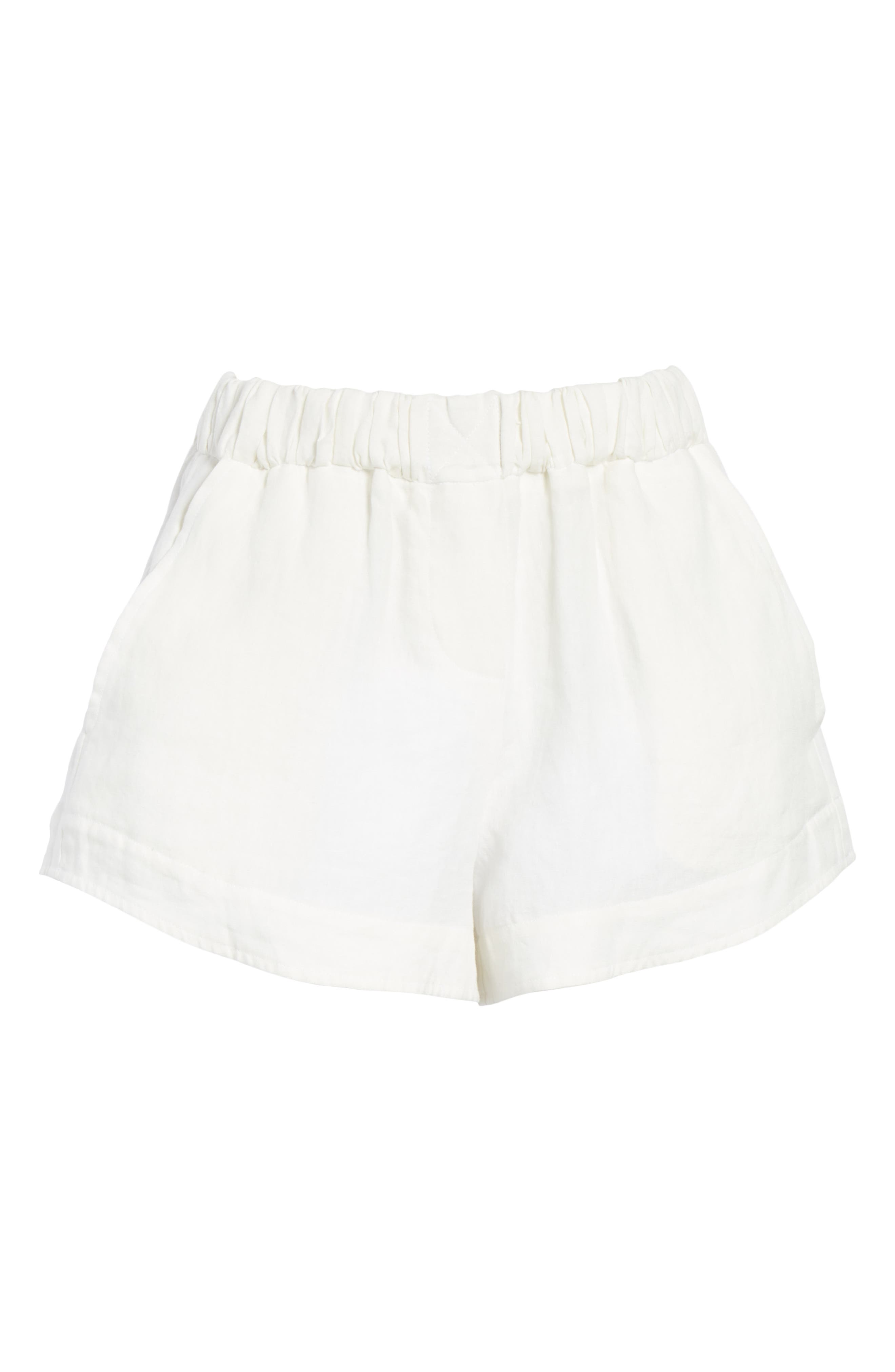 Nyssa Linen Shorts,                             Alternate thumbnail 7, color,                             IVORY