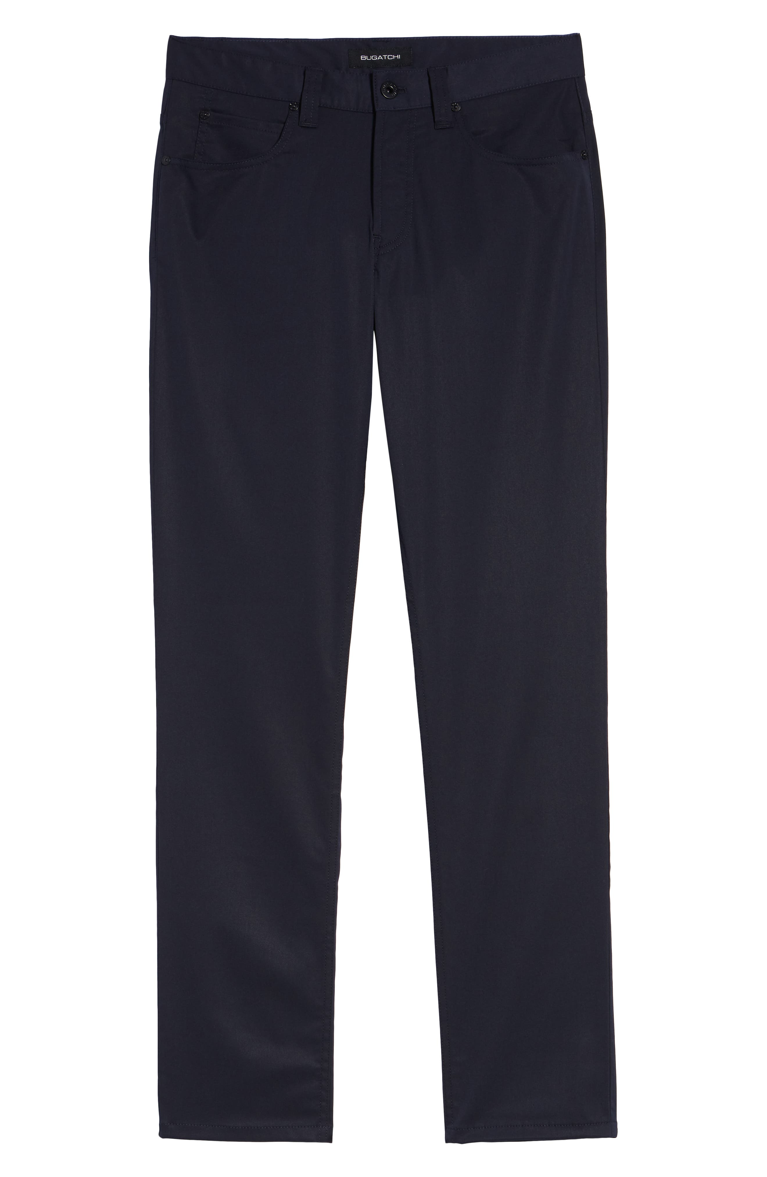 Flat Front Pants,                             Alternate thumbnail 6, color,                             MIDNIGHT