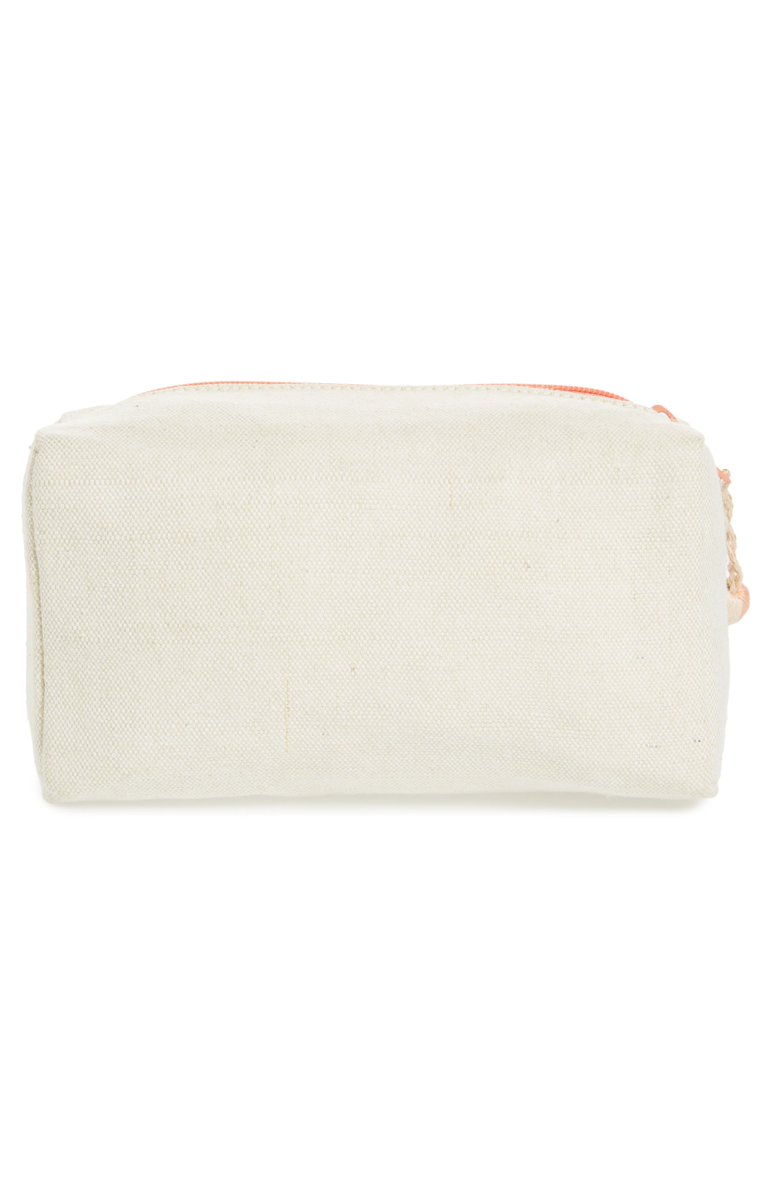 Bee Canvas Cosmetic Pouch,                             Alternate thumbnail 2, color,                             710