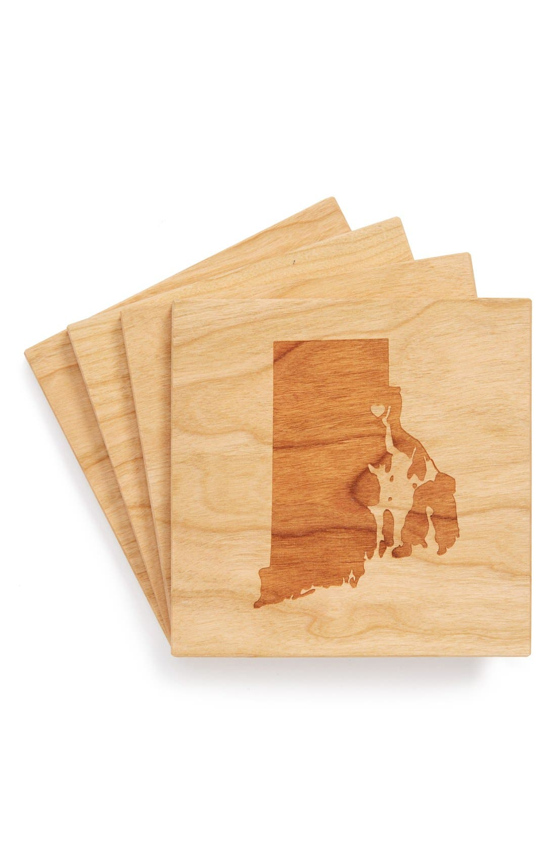 'State Silhouette' Coasters,                             Main thumbnail 37, color,