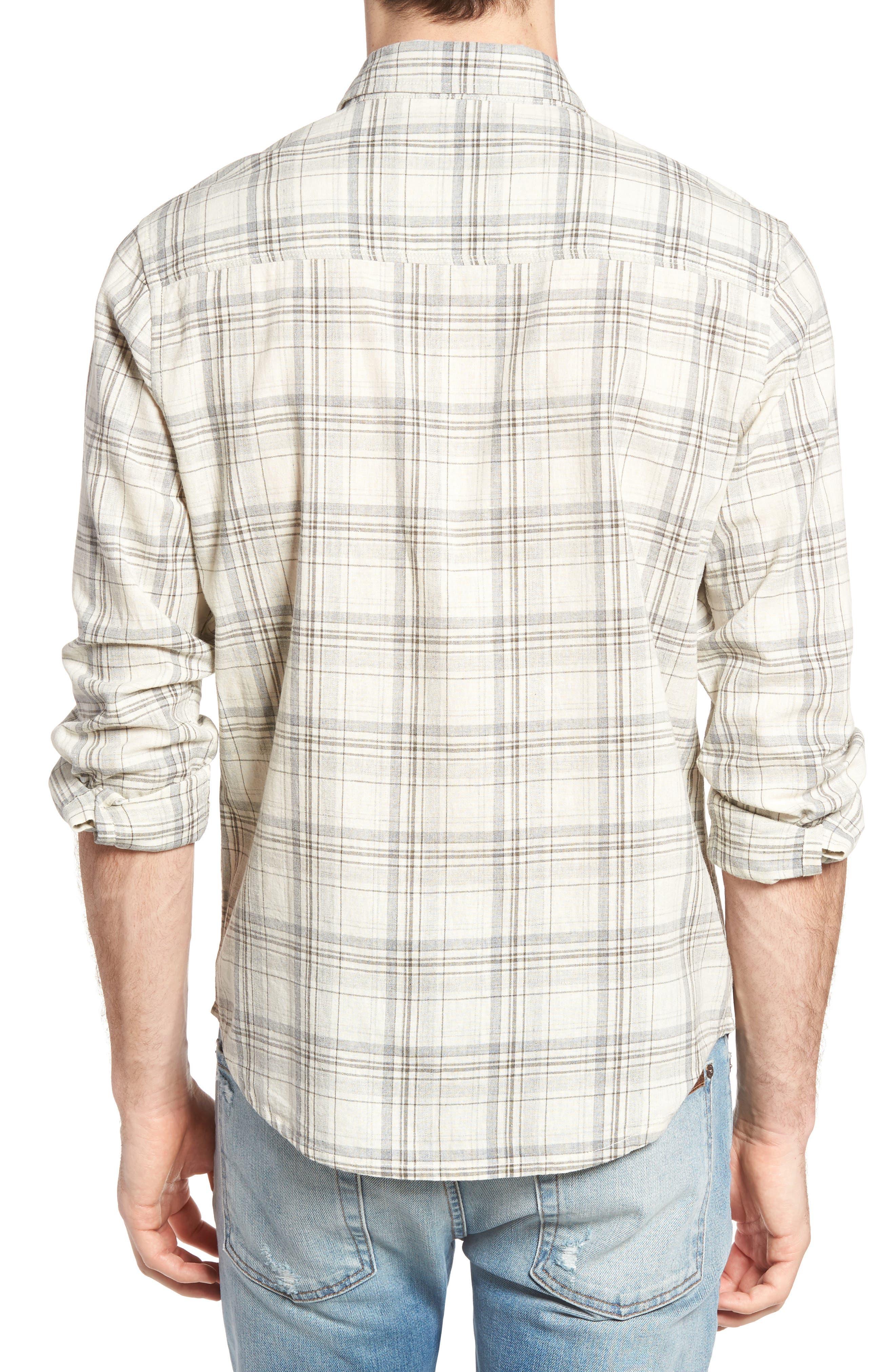 Henri Regular Fit Plaid Cotton & Linen Sport Shirt,                             Alternate thumbnail 2, color,                             280