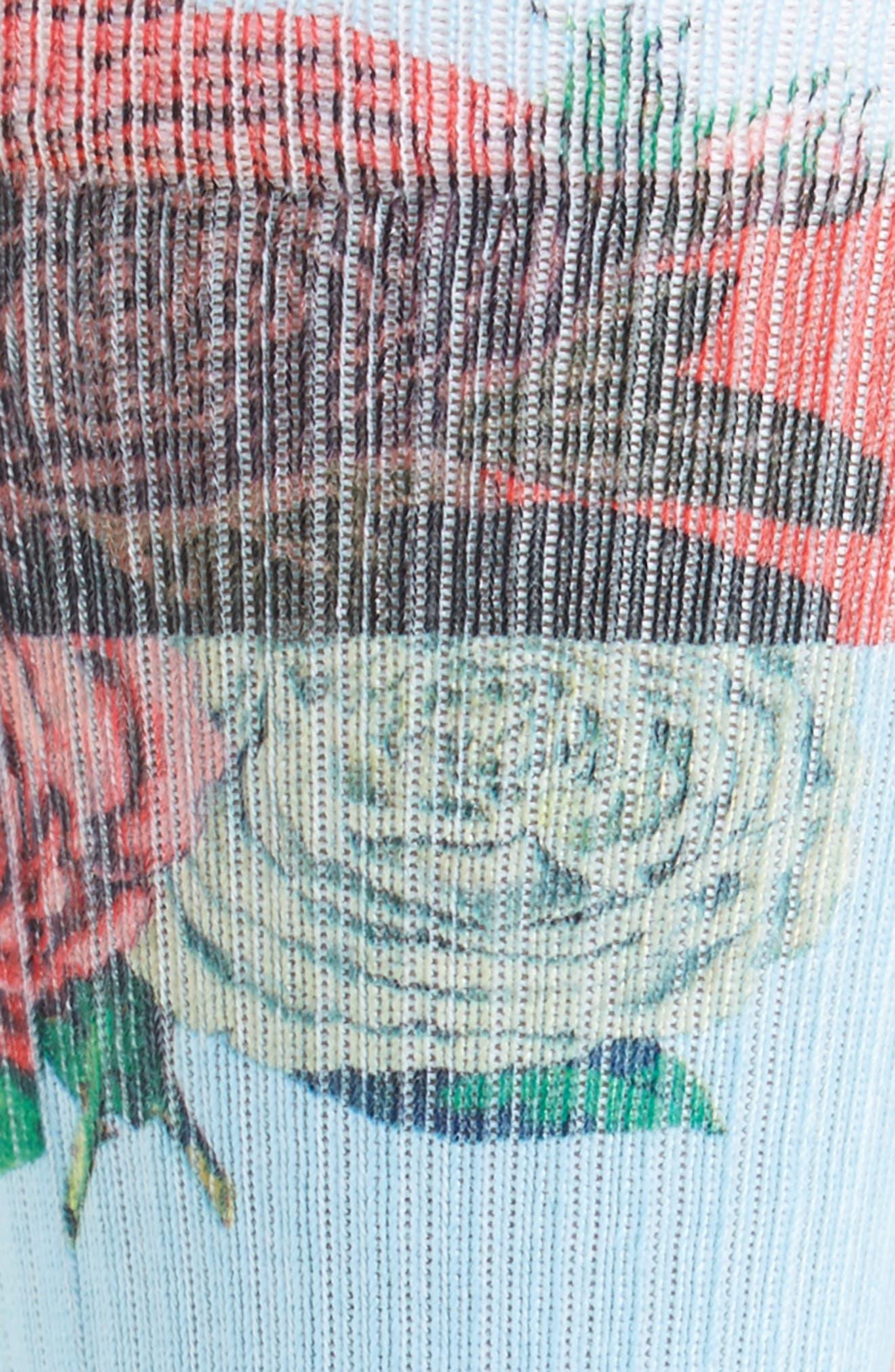 Libertine Rose Crew Socks,                             Alternate thumbnail 2, color,