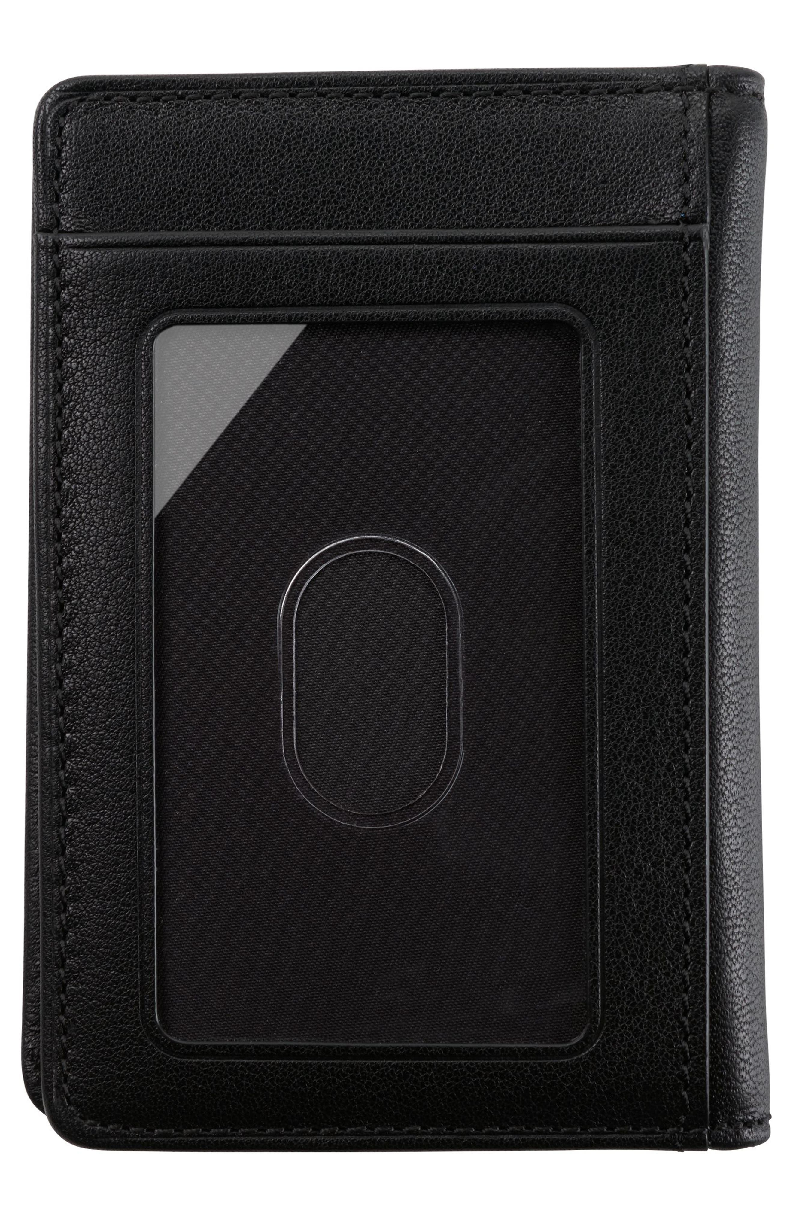 TUMI,                             Leather Card Case,                             Alternate thumbnail 3, color,                             011