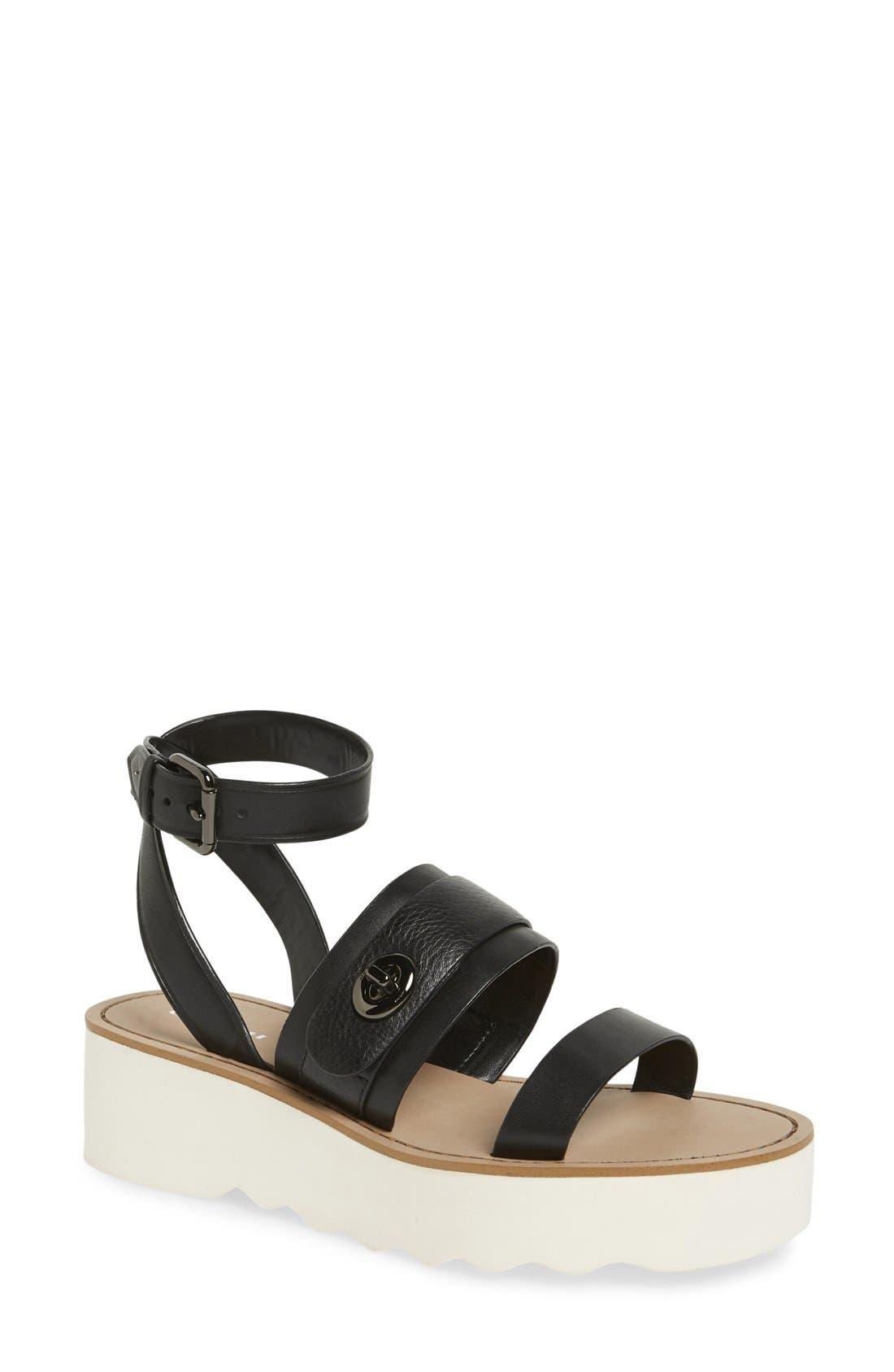 'Platt' Platform Sandal,                         Main,                         color, 001