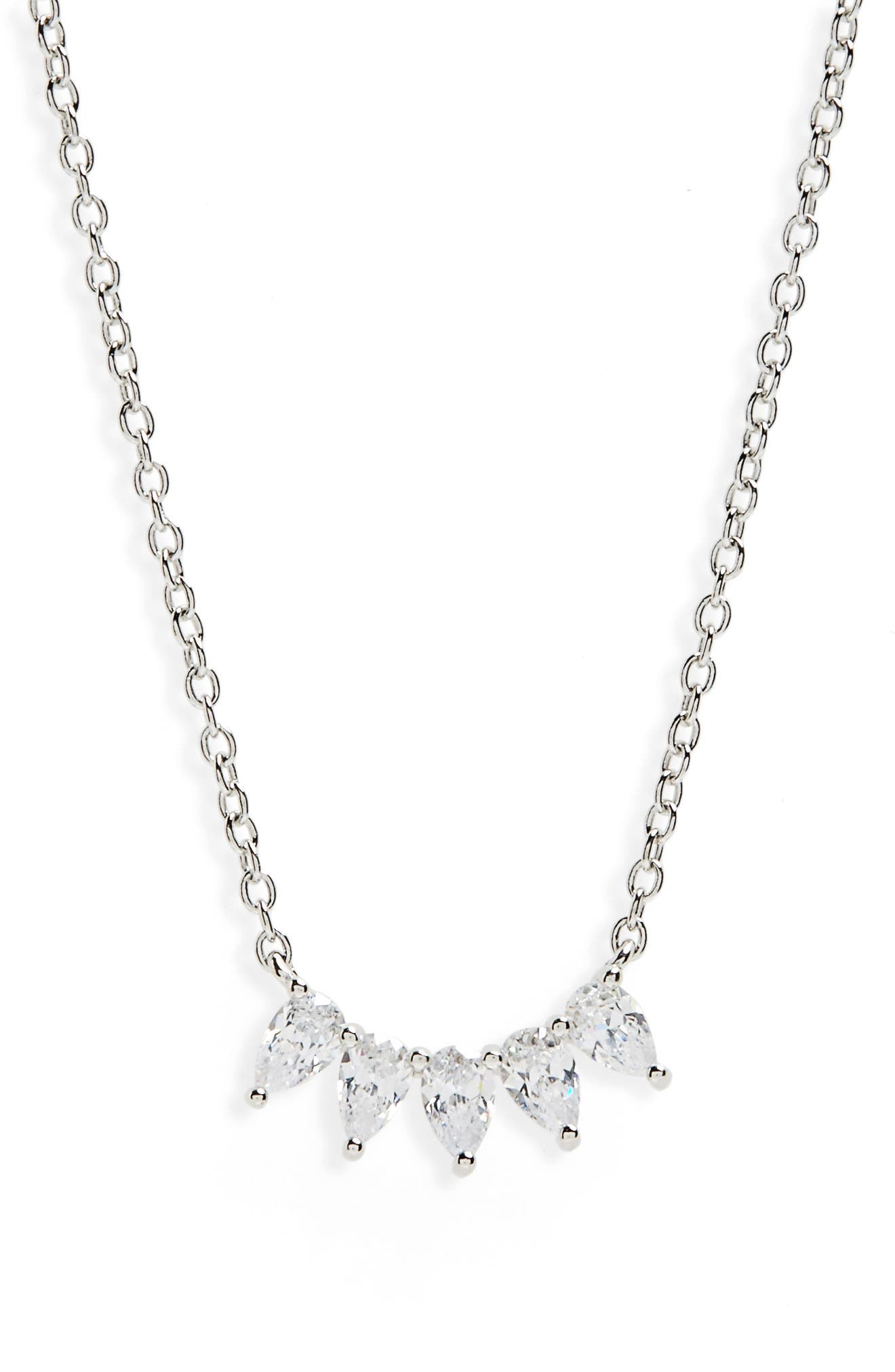 Marquise Cubic Zirconia Pendant Necklace,                             Main thumbnail 1, color,                             040