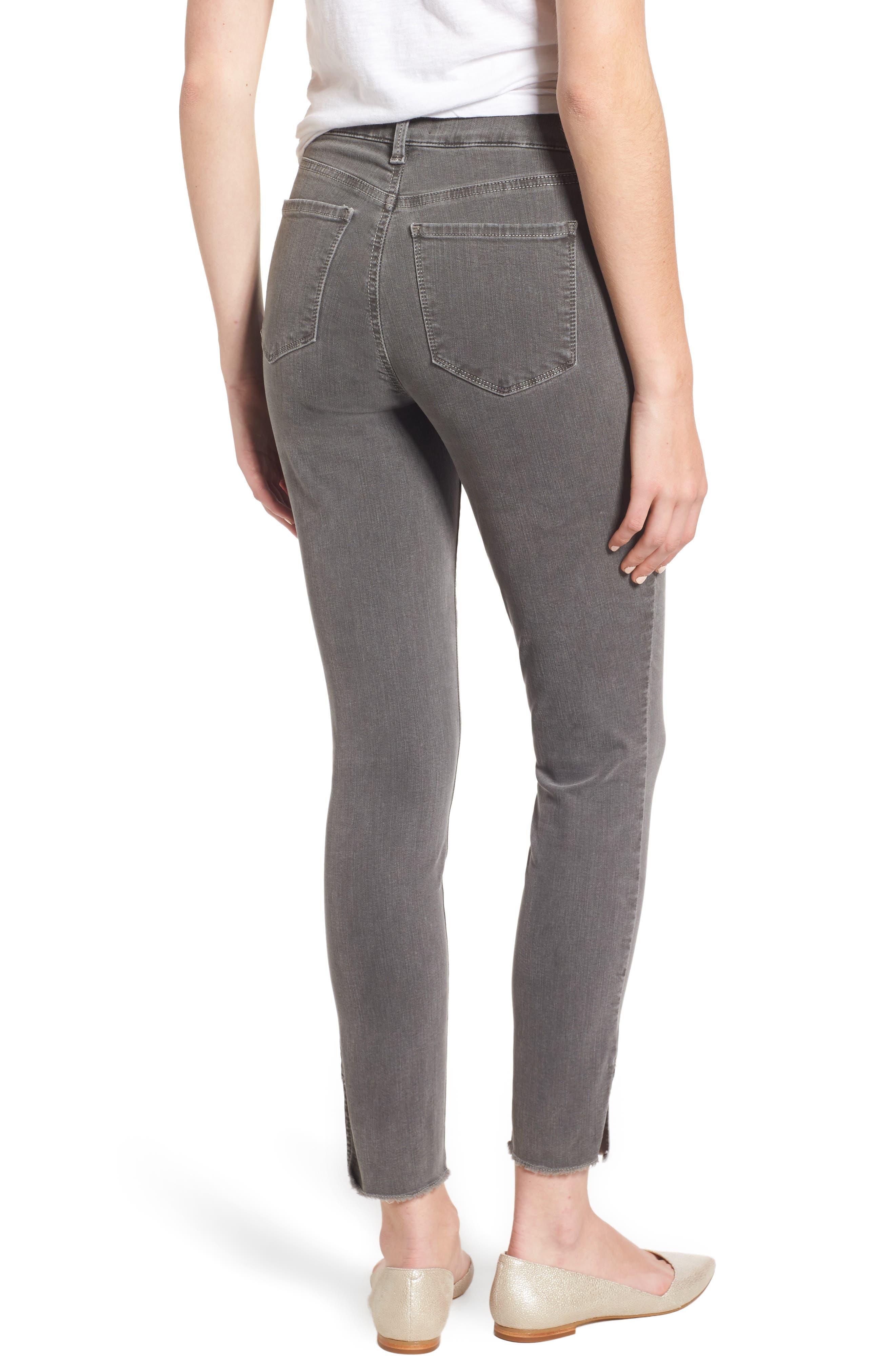 Ami Frayed Hem Stretch Skinny Ankle Jeans,                             Alternate thumbnail 2, color,                             038