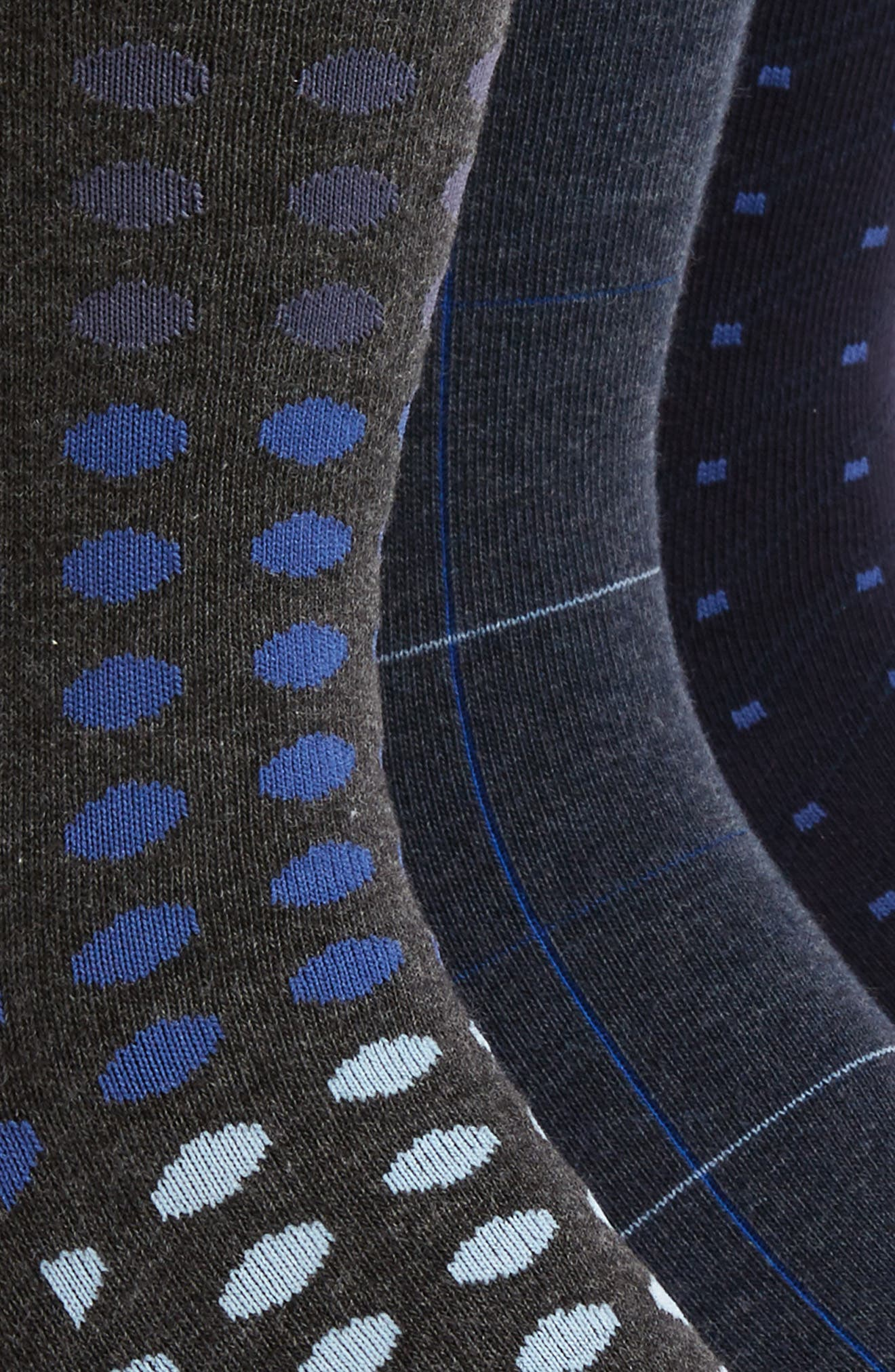 3-Pack Mixed Pattern Socks,                             Alternate thumbnail 2, color,                             410