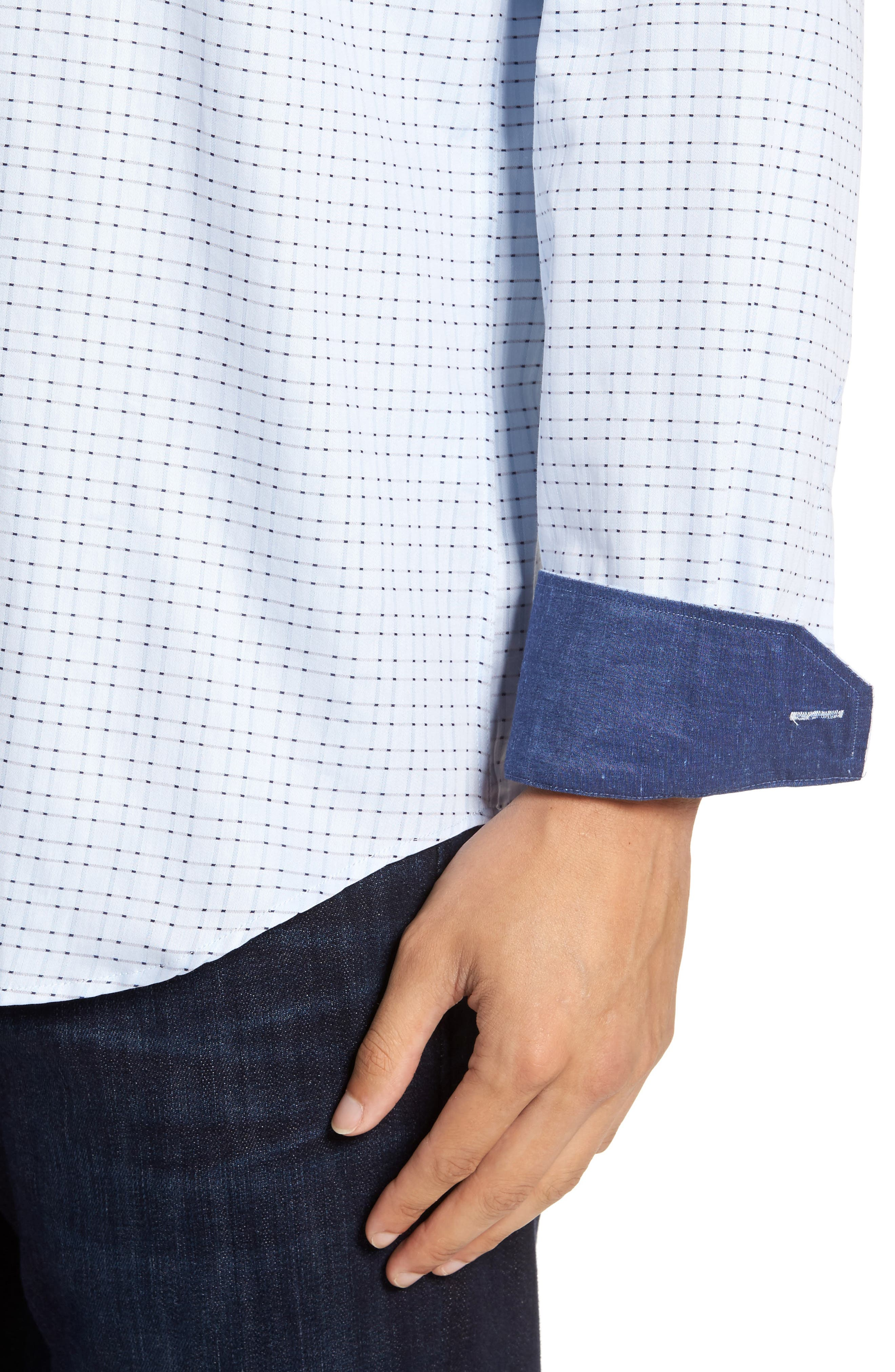 Classic Fit Check Sport Shirt,                             Alternate thumbnail 4, color,                             459