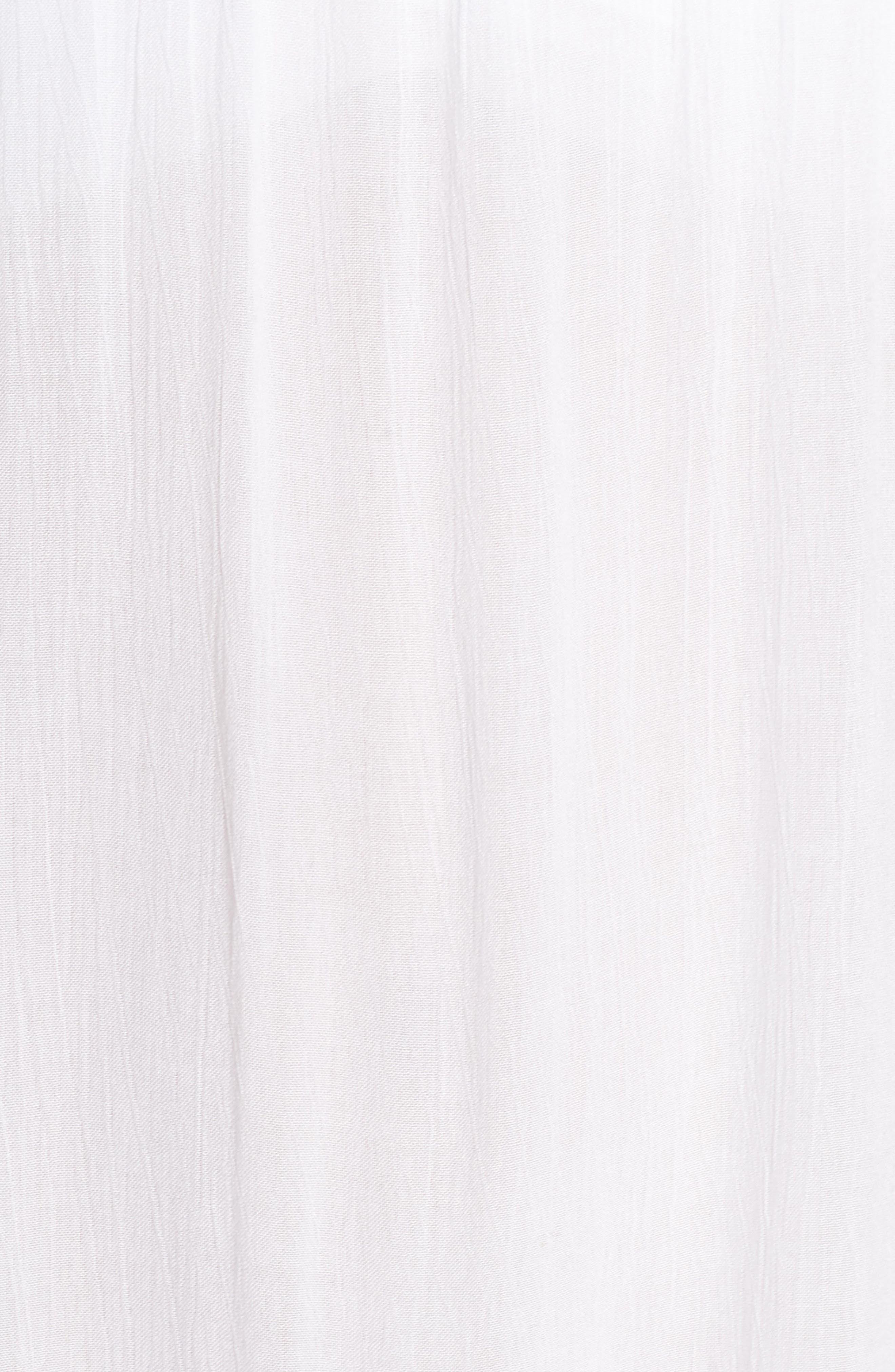 Lucca Cover-Up Midi Dress,                             Alternate thumbnail 5, color,                             WHITE