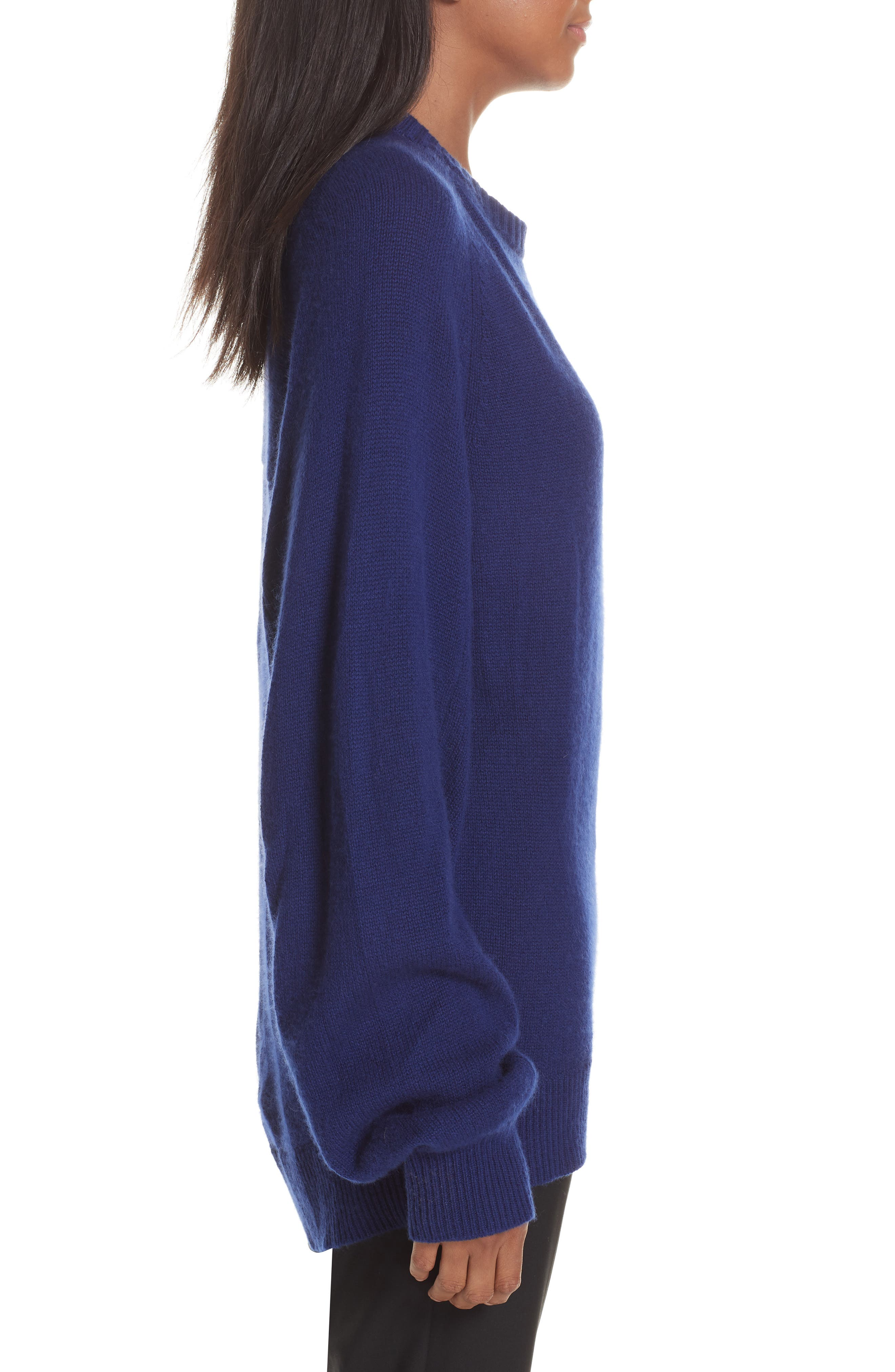 Cashmere Sweater,                             Alternate thumbnail 3, color,                             PERSIAN BLUE