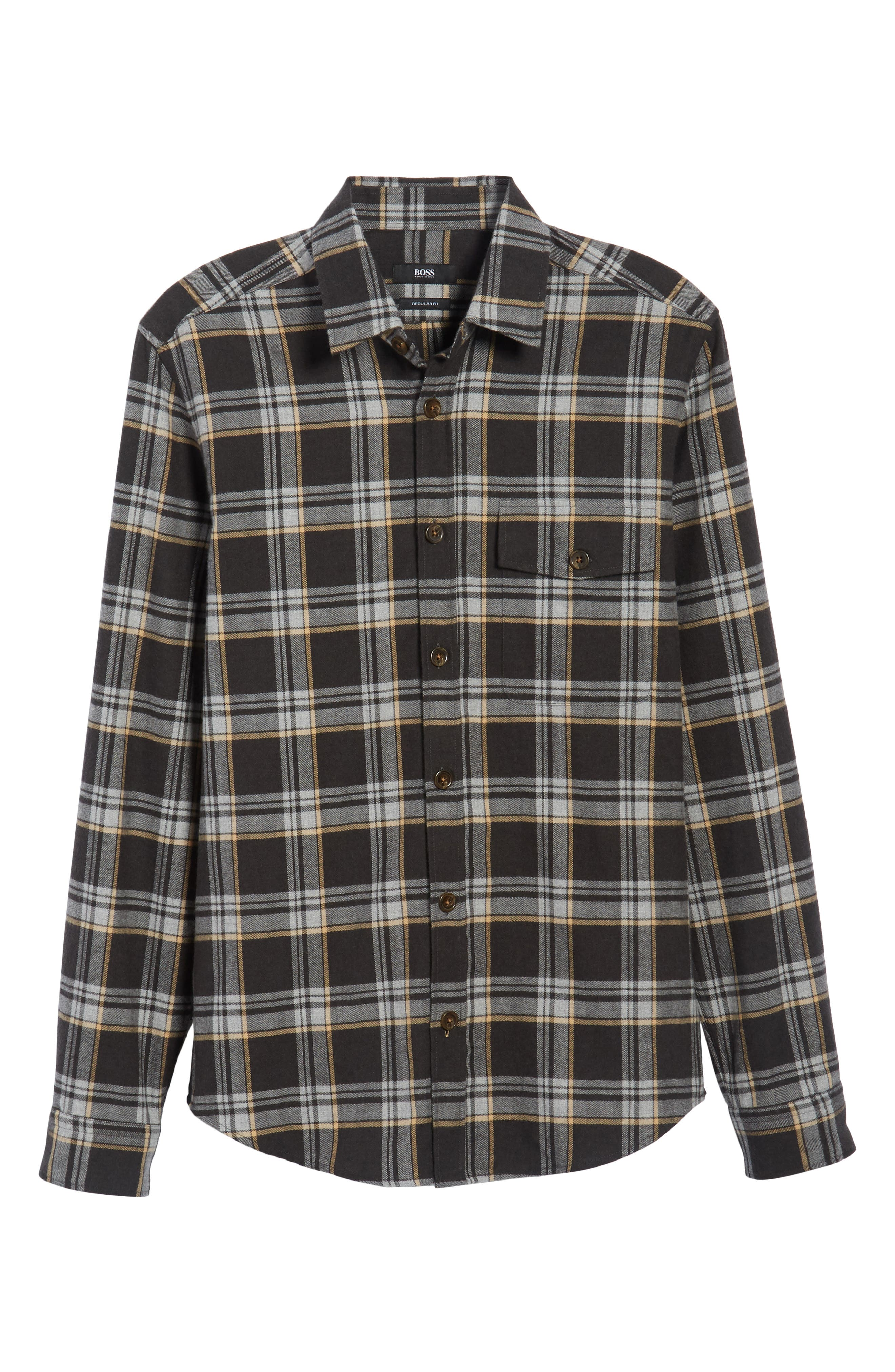 Lalo Plaid Flannel Shirt,                             Alternate thumbnail 6, color,                             262