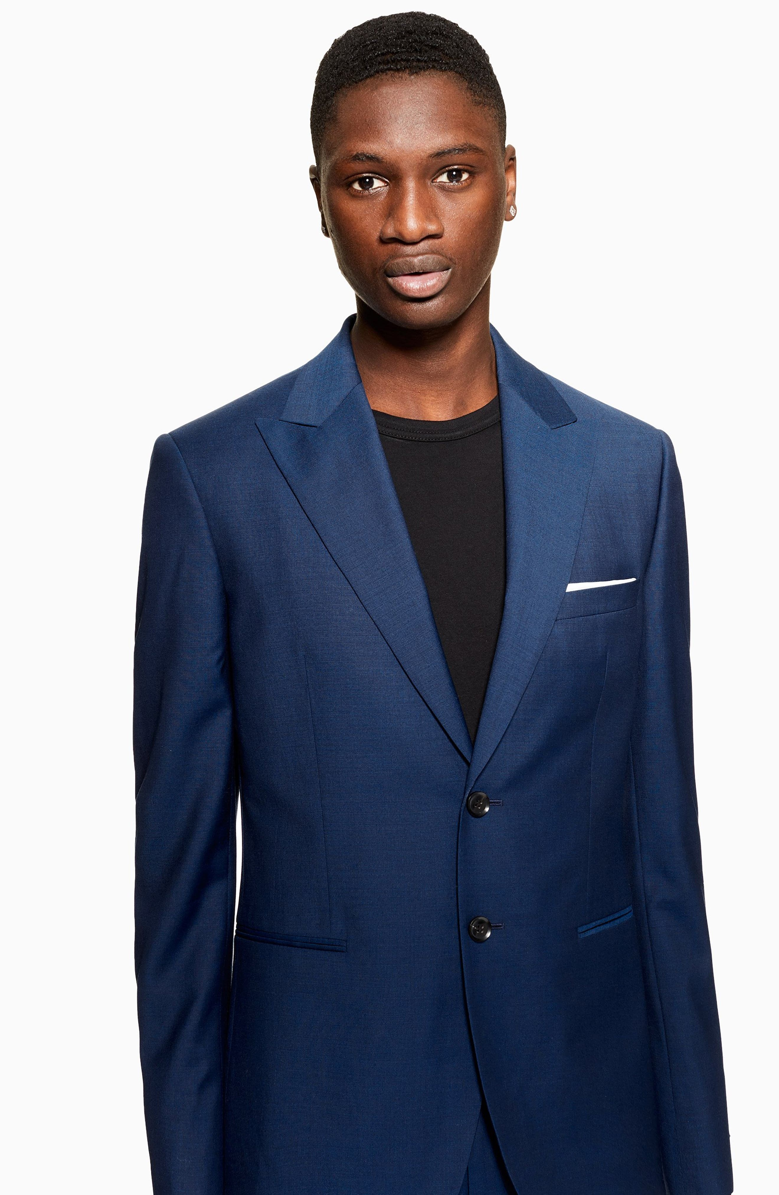 Casely Hayford Skinny Fit Suit Jacket,                             Alternate thumbnail 4, color,                             NAVY BLUE
