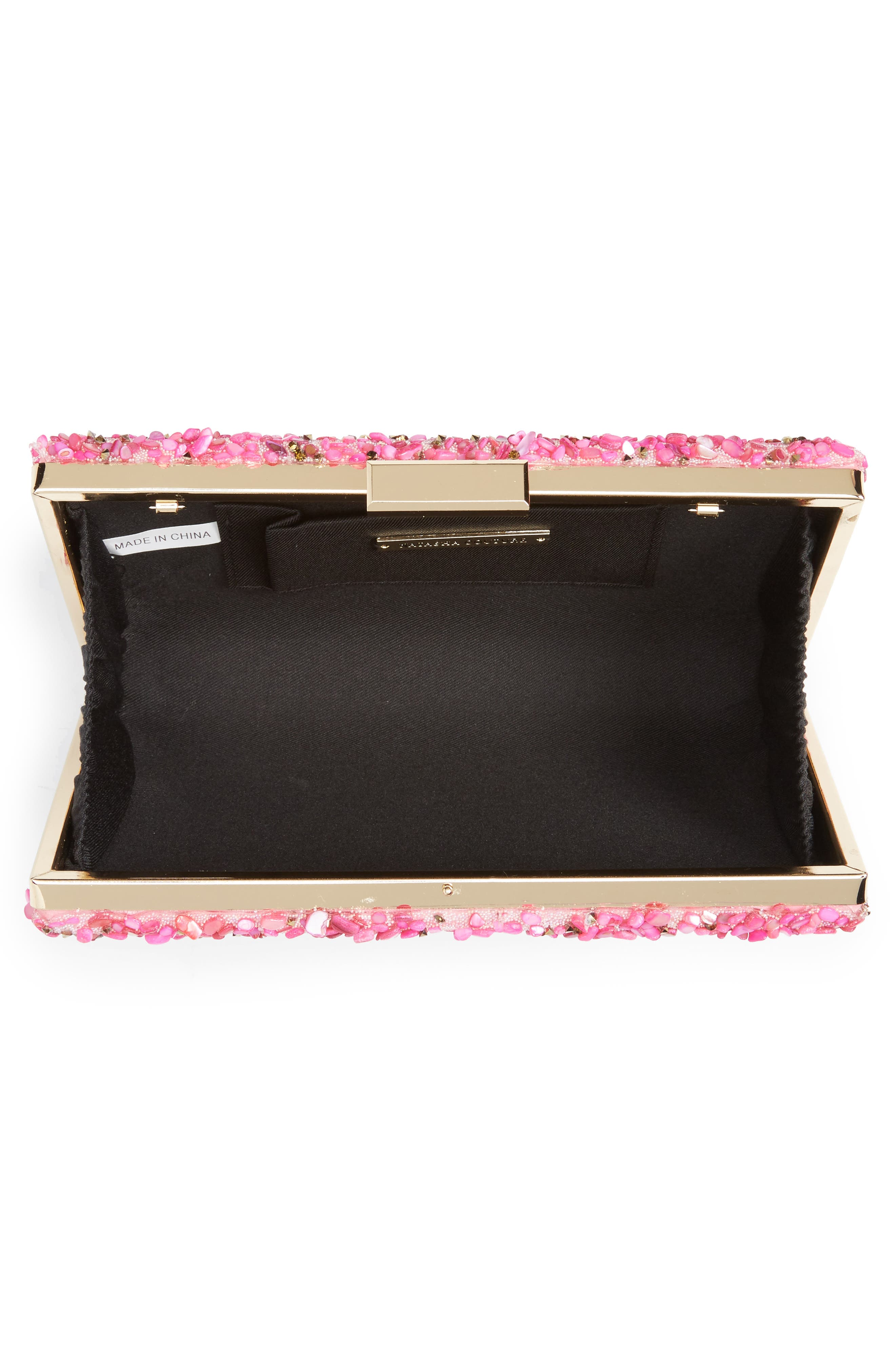Chips Embellished Box Clutch,                             Alternate thumbnail 15, color,
