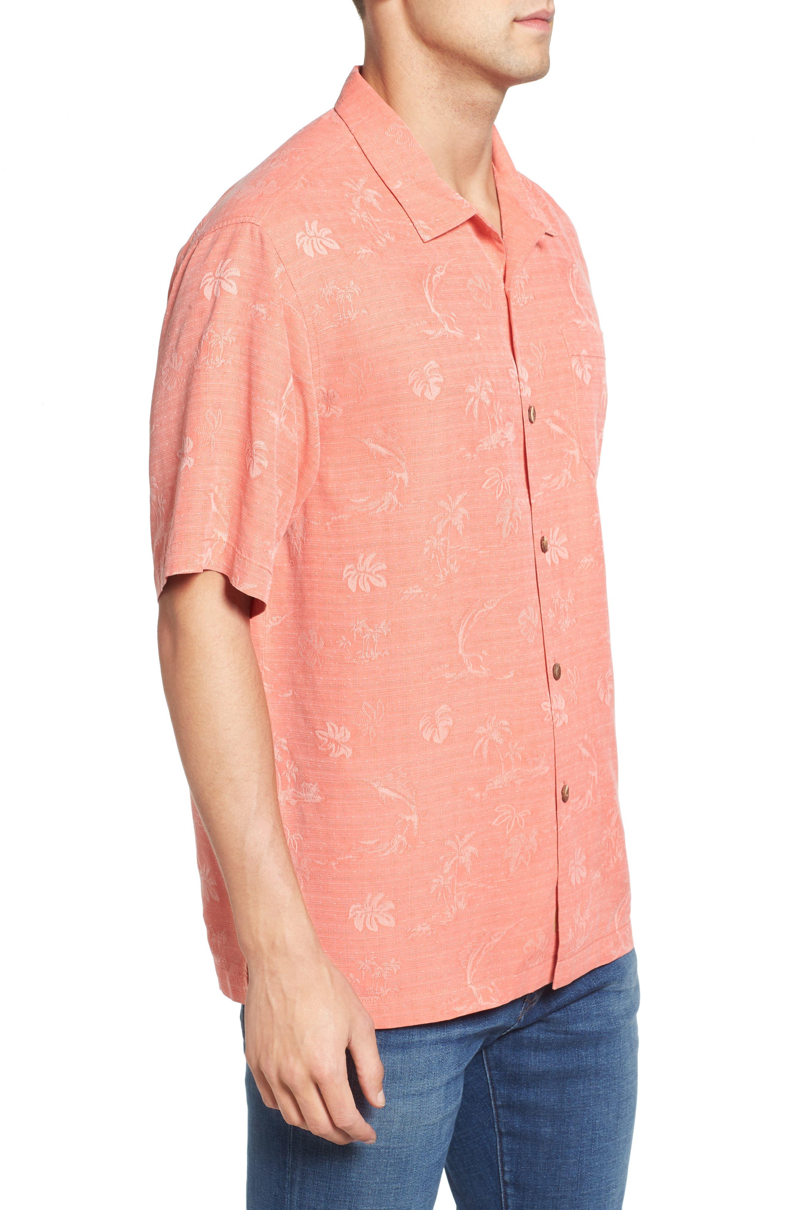 Gulf Shore Marlin Silk Camp Shirt,                             Alternate thumbnail 15, color,