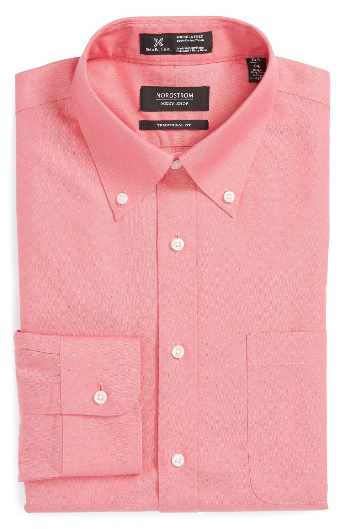Smartcare<sup>™</sup> Traditional Fit Pinpoint Dress Shirt,                             Main thumbnail 34, color,