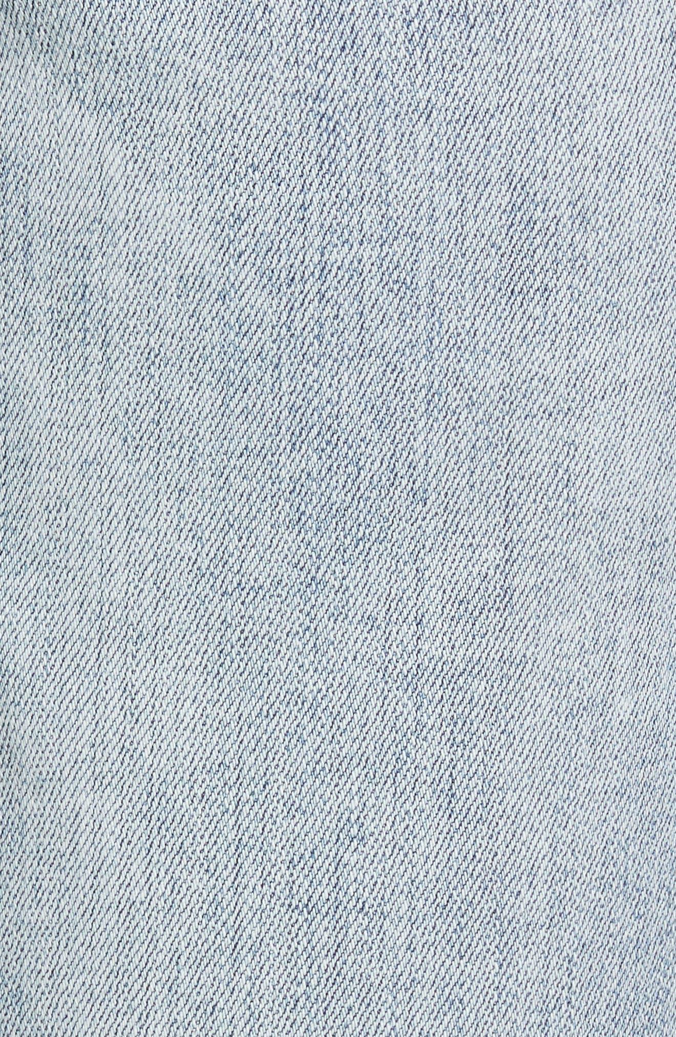 Baby Bootcut Contrast Release Hem Jeans,                             Alternate thumbnail 5, color,                             464