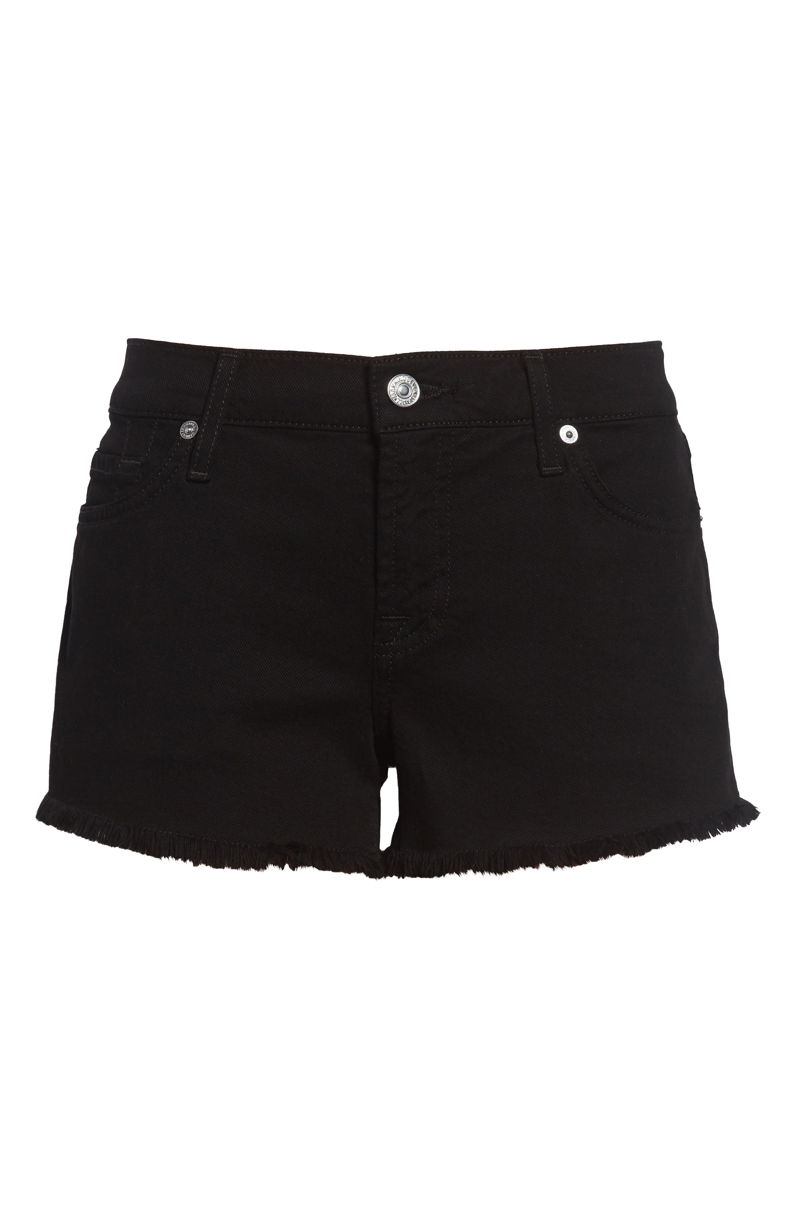 Cutoff Shorts,                             Alternate thumbnail 2, color,                             BLACK