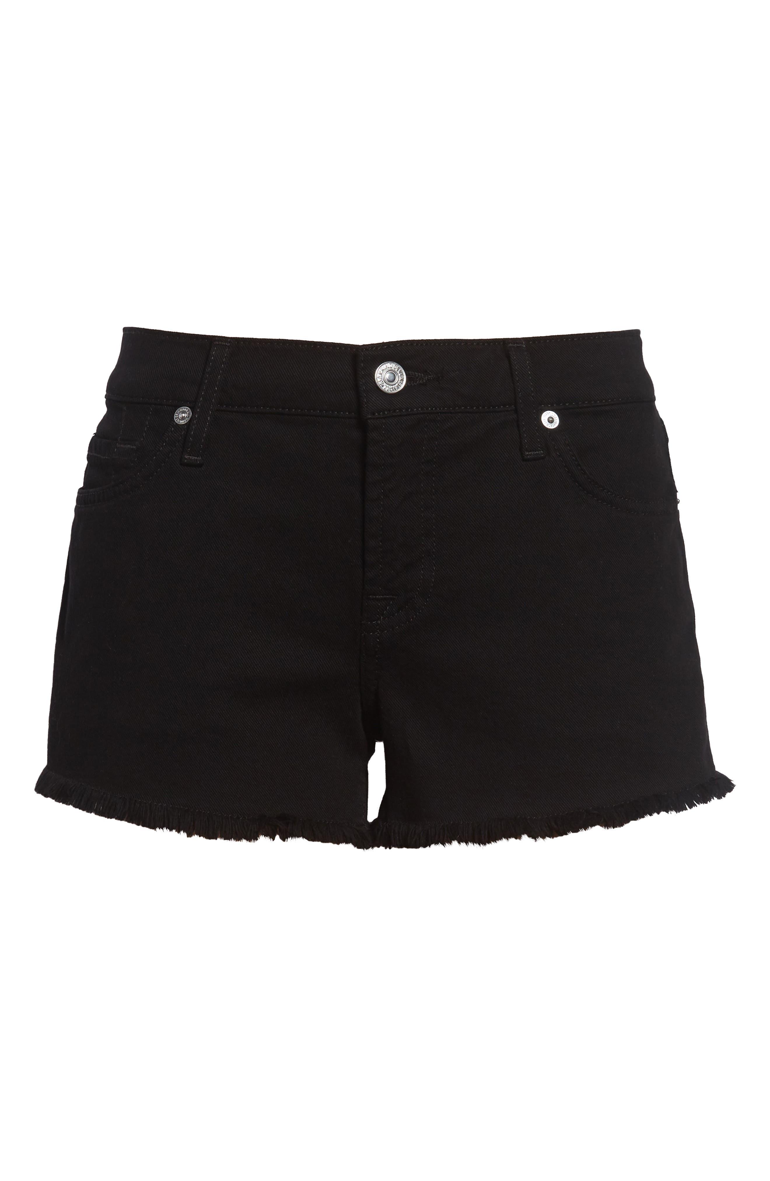 Cutoff Shorts,                         Main,                         color, BLACK