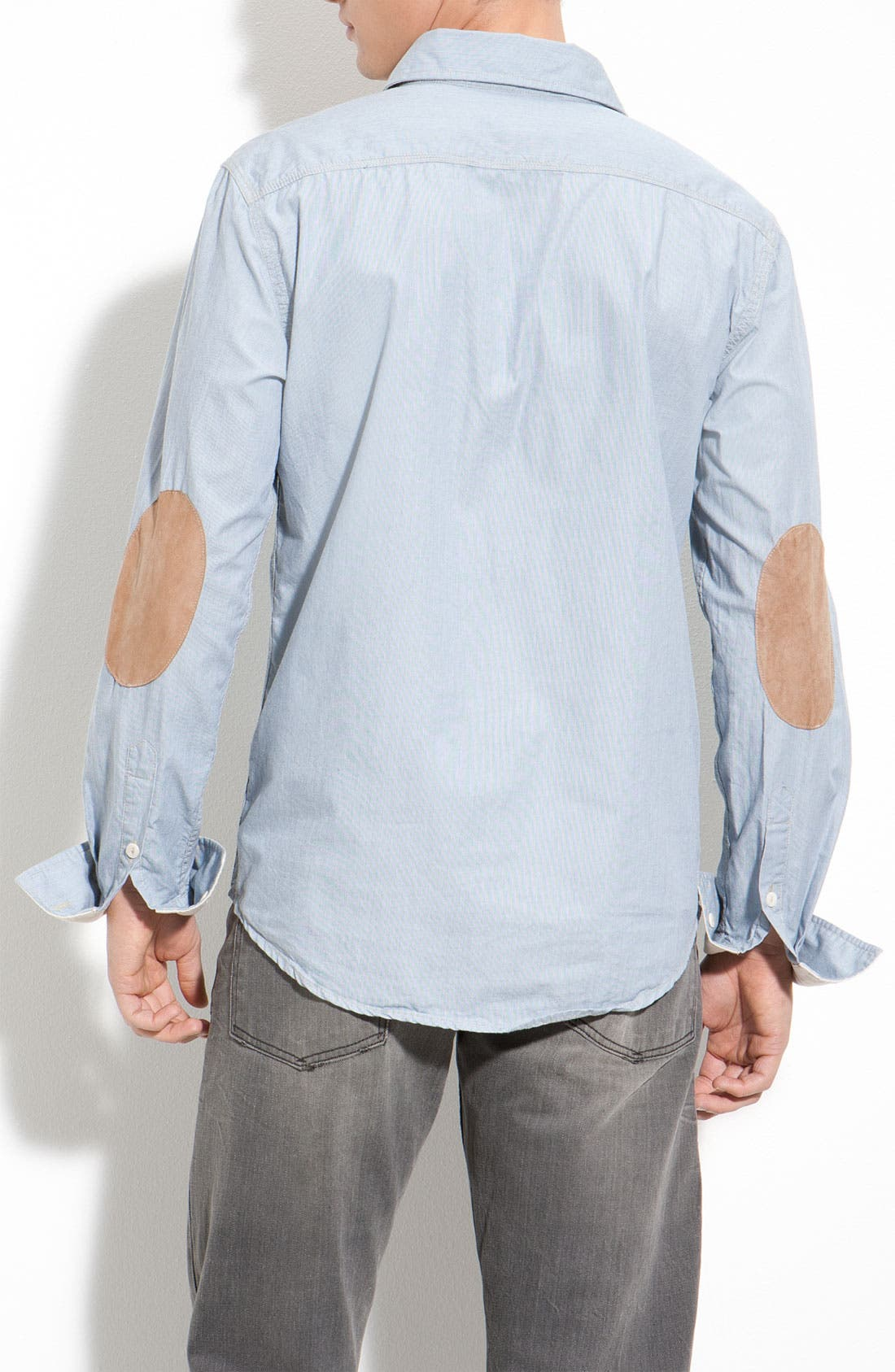 Striped Shirt With Elbow Patches,                             Alternate thumbnail 2, color,                             453