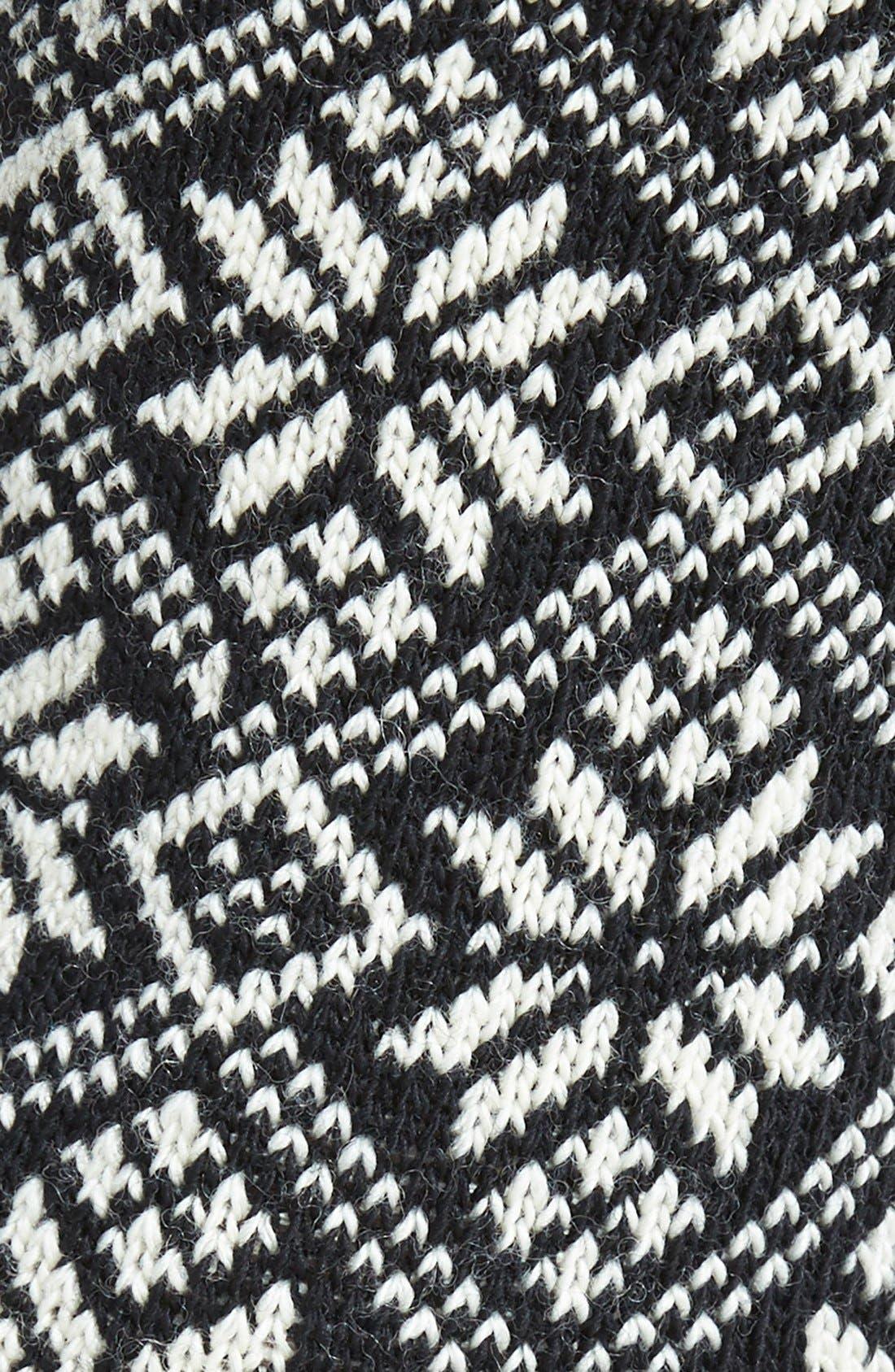 SMARTWOOL,                             Snowflake Pattern Crew Socks,                             Alternate thumbnail 2, color,                             001