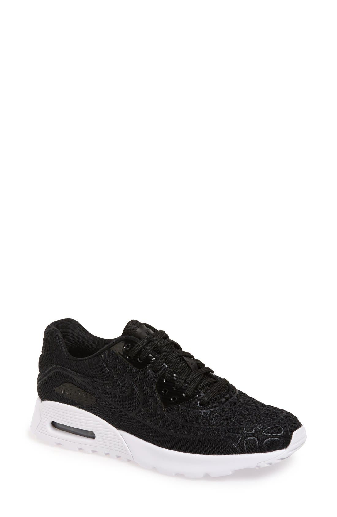 NIKE 'Air Max 90 Ultra Plush' Sneaker, Main, color, 001