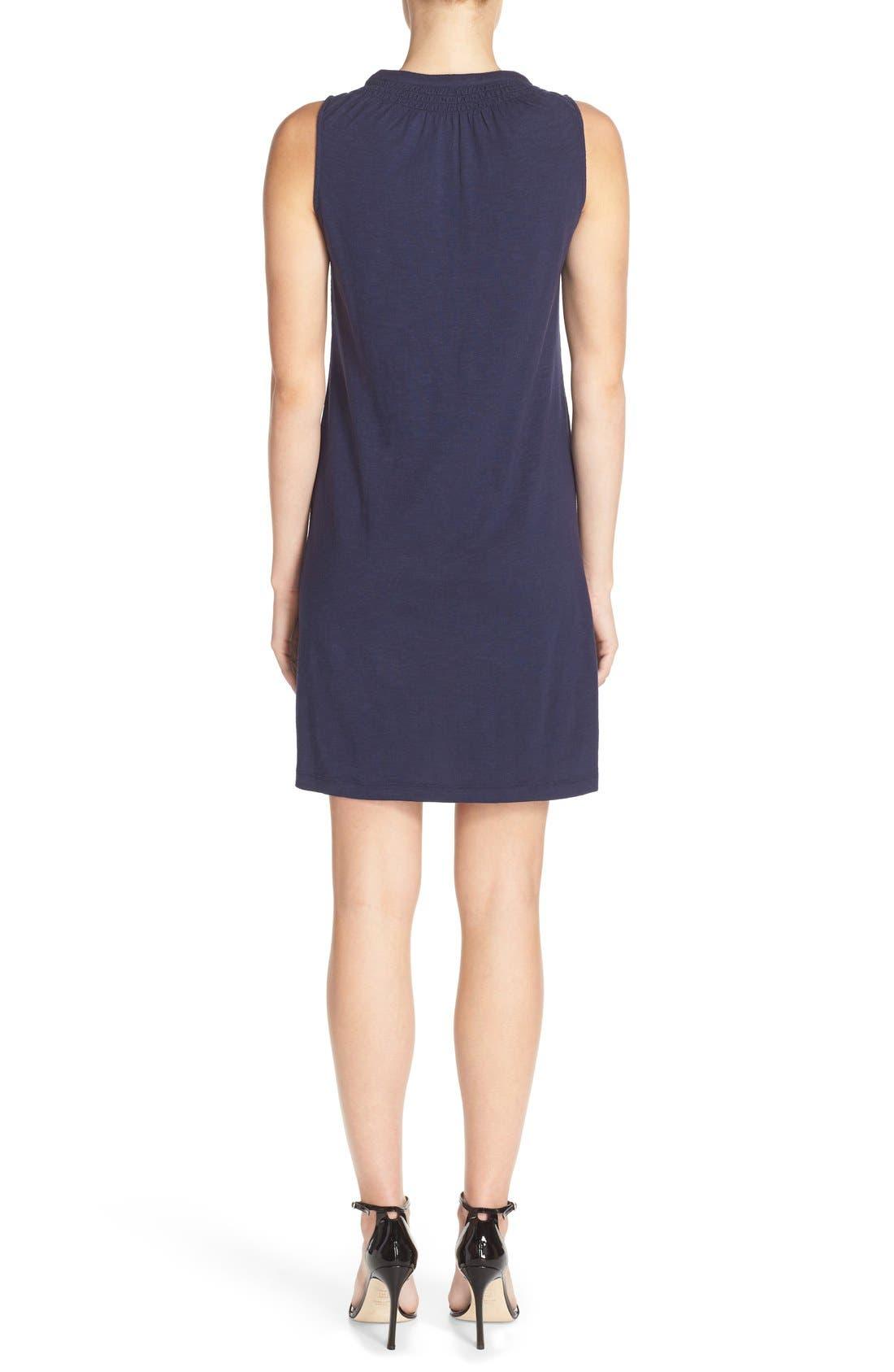 'Essie' Cotton & Modal A-Line Dress,                             Alternate thumbnail 2, color,                             408