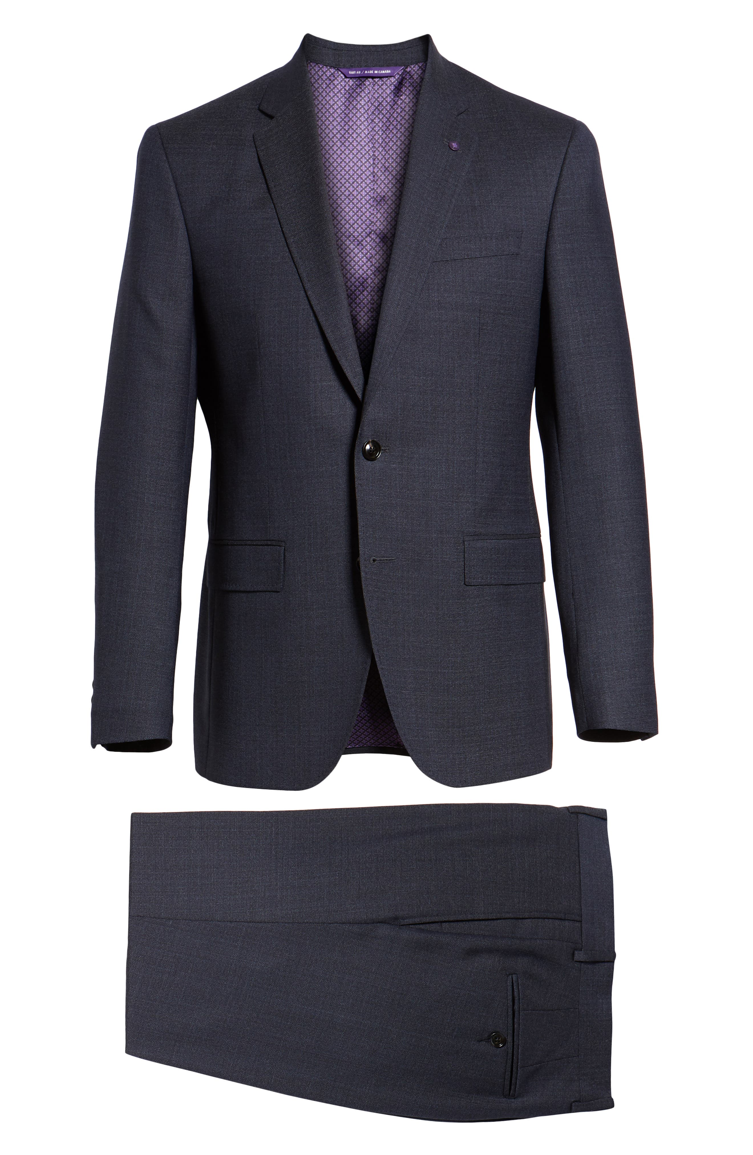 Jay Trim Fit Solid Wool Suit,                             Alternate thumbnail 8, color,                             020