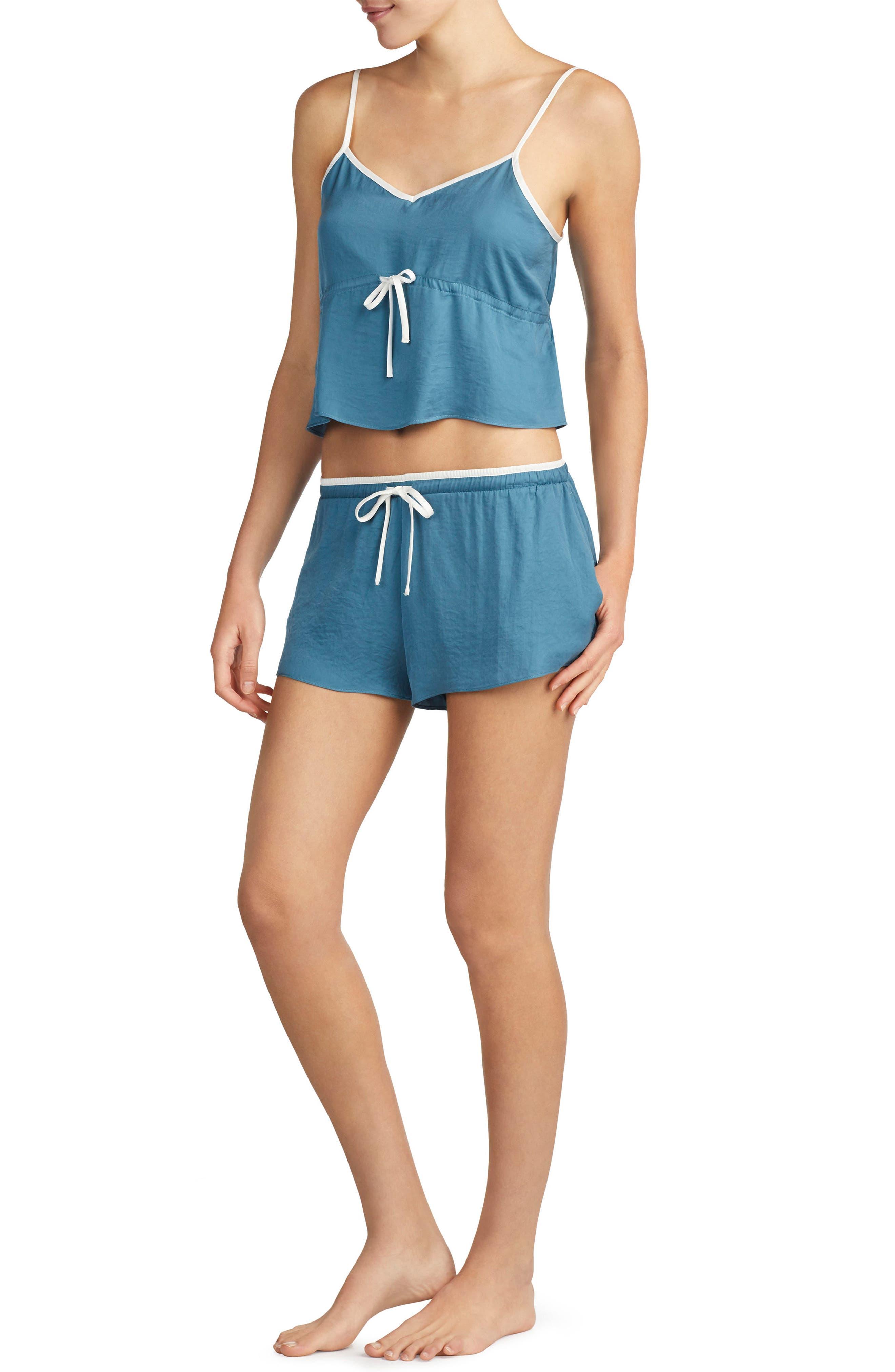 Satin Short Pajamas,                             Main thumbnail 1, color,